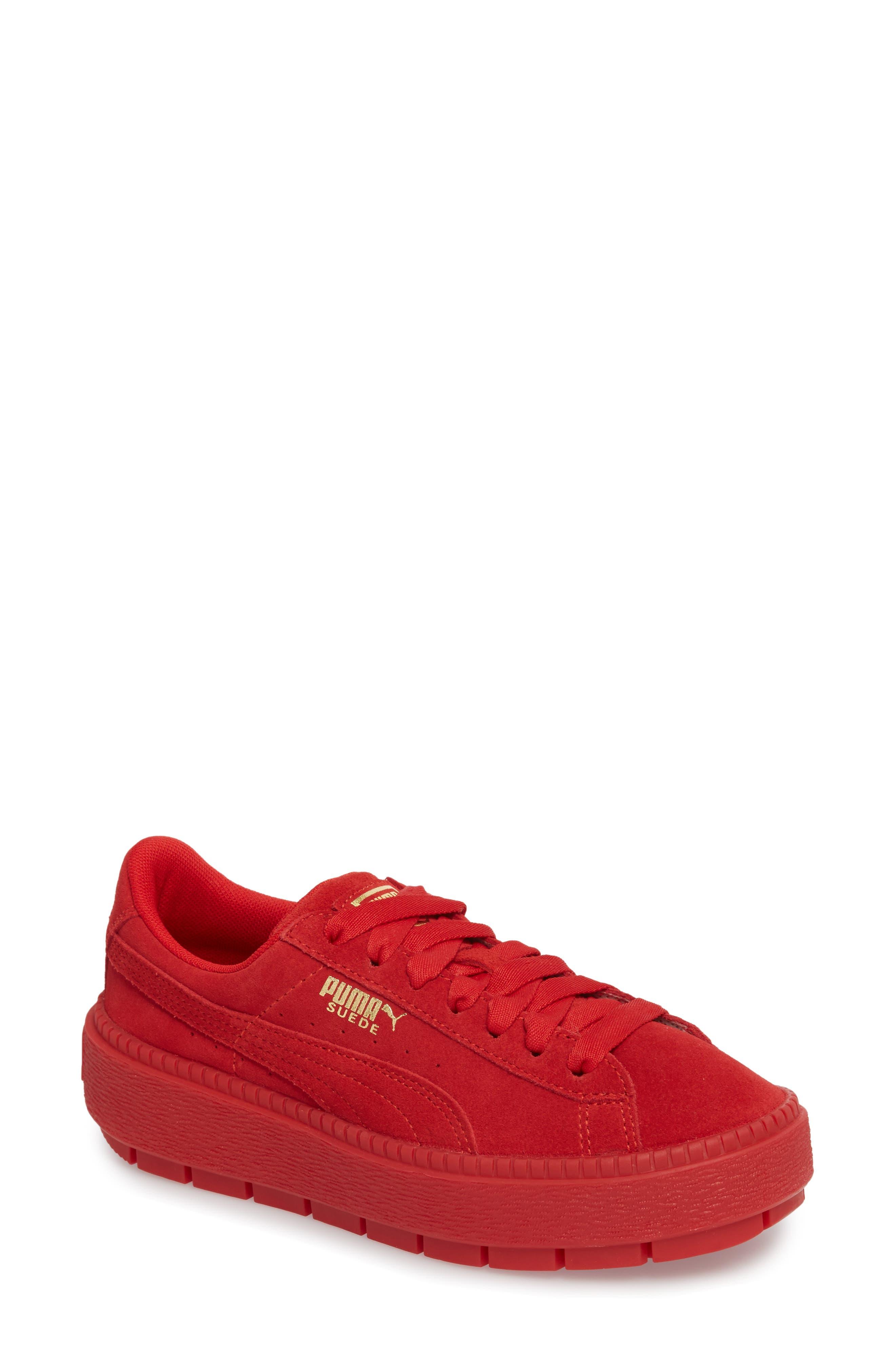 Alternate Image 1 Selected - PUMA Platform Trace Sneaker (Women)