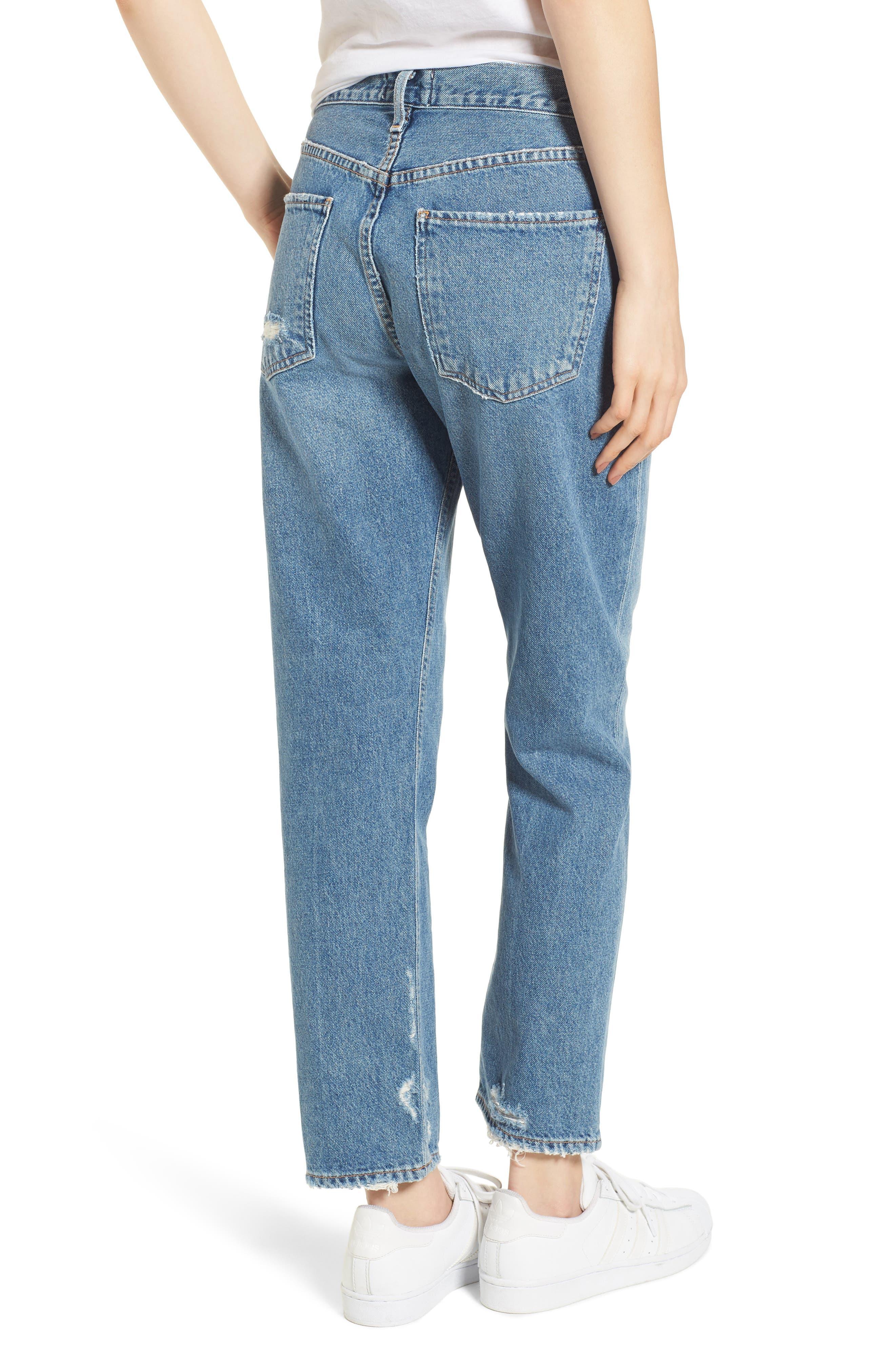 Cigarette High Waist Jeans,                             Alternate thumbnail 2, color,                             Passenger
