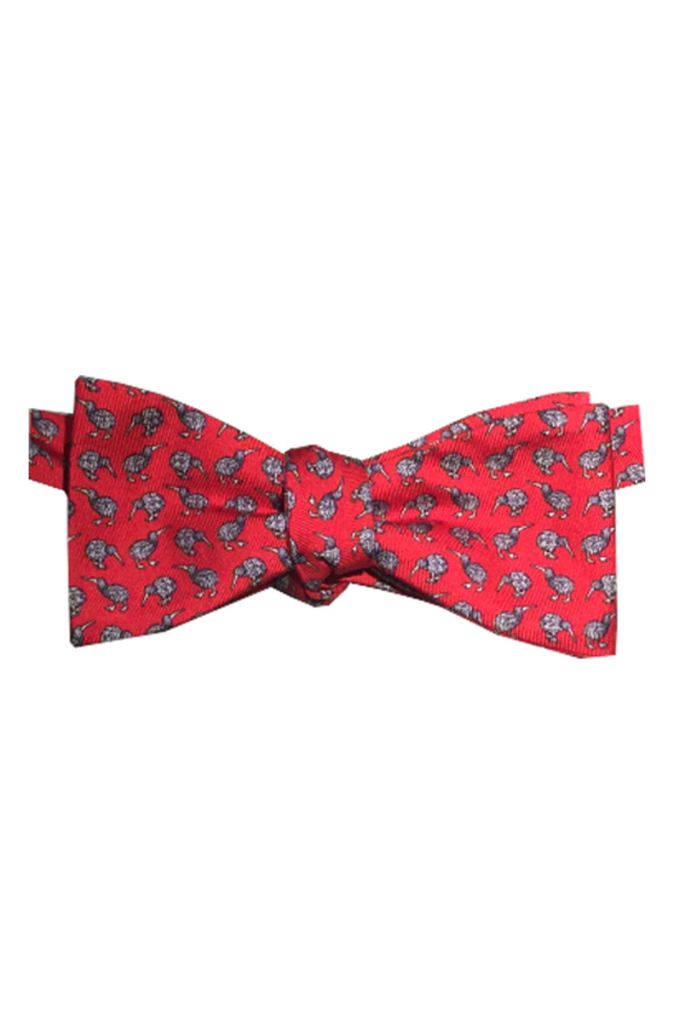 Cheeky Kiwi Silk Bow Tie,                             Main thumbnail 1, color,                             Red