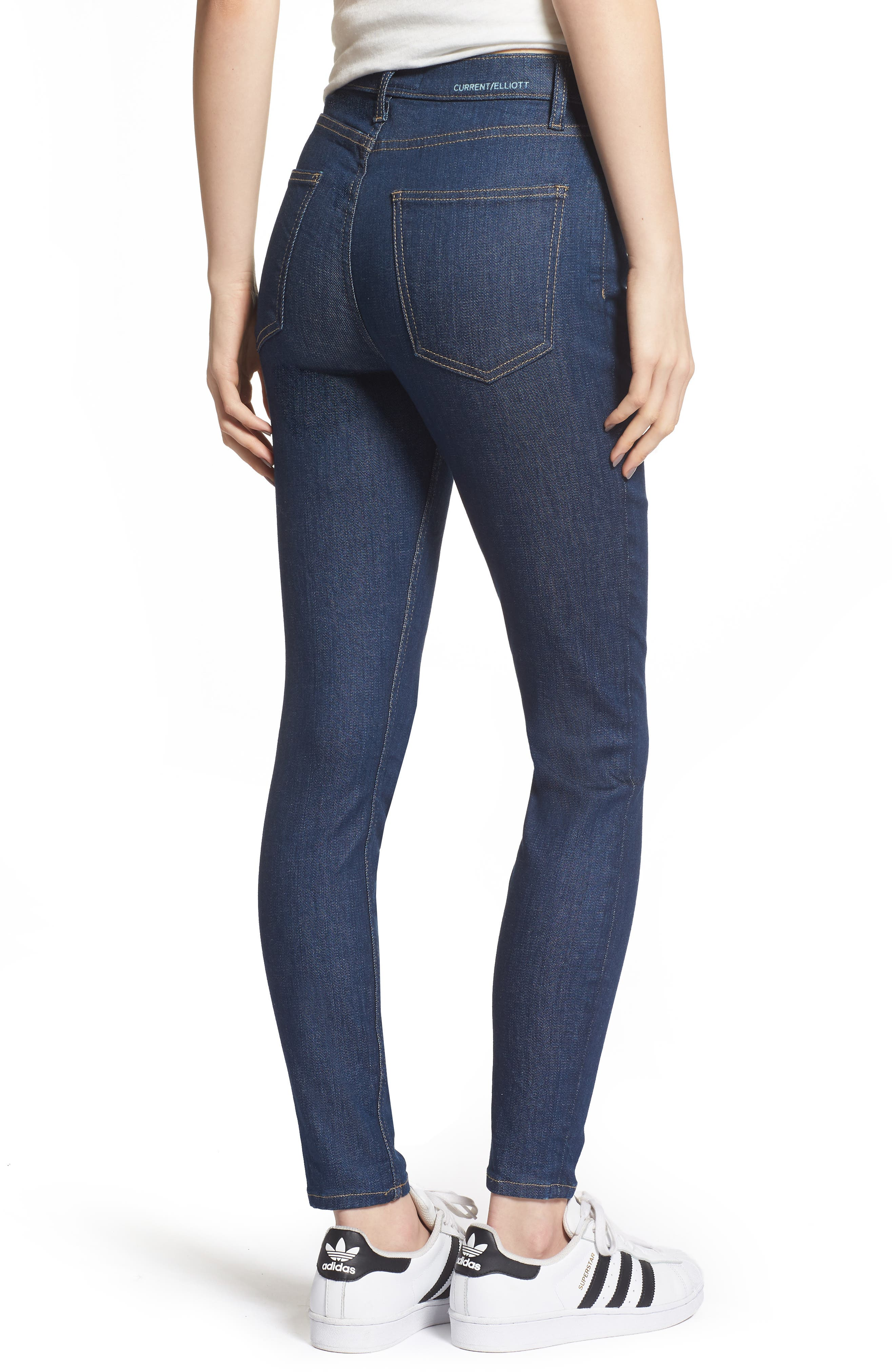 The Ultra High Waist Skinny Jeans,                             Alternate thumbnail 2, color,                             Rinse