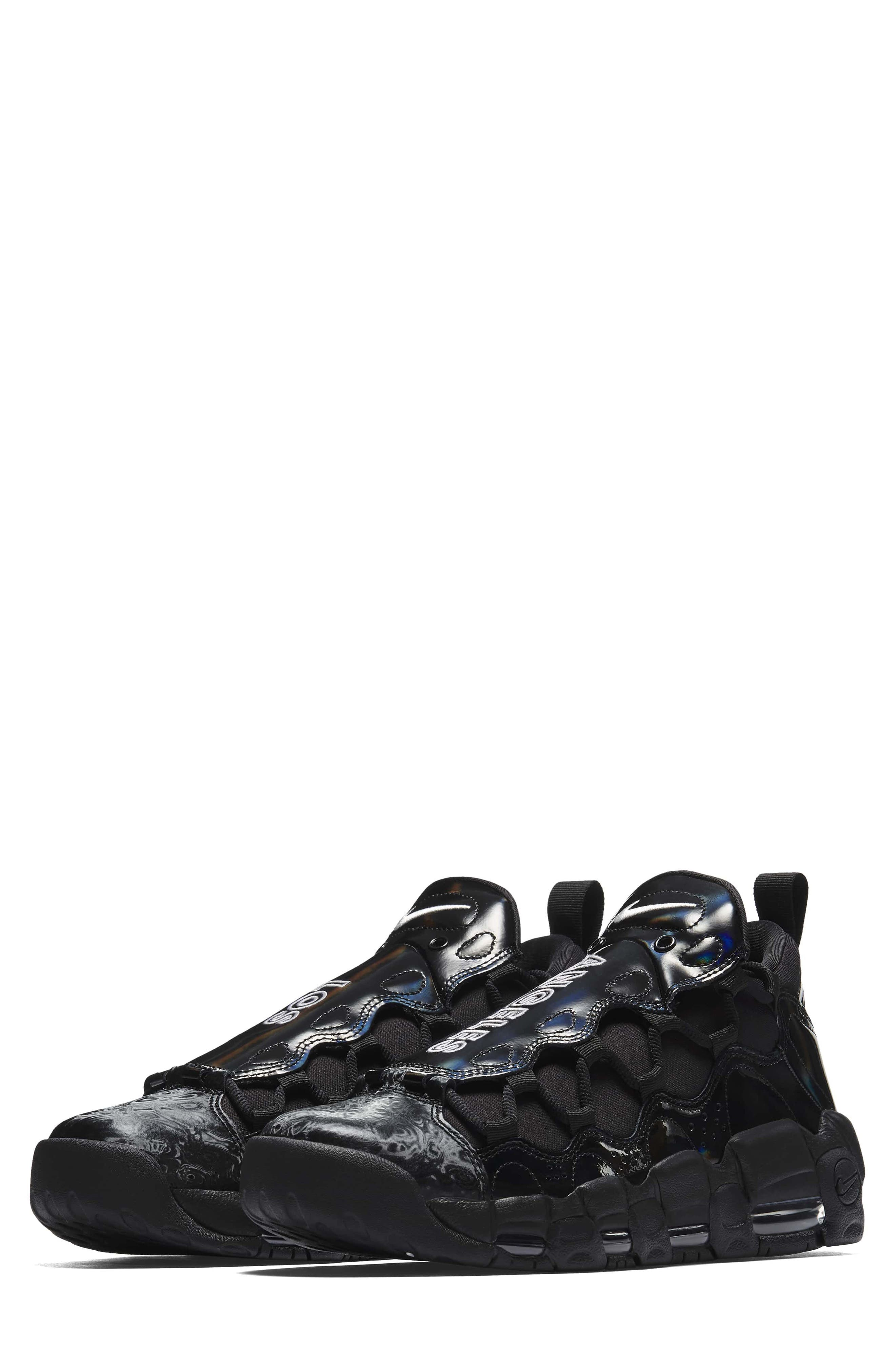 Air More Money LX Sneaker,                         Main,                         color, Black/ Black/ Summit White