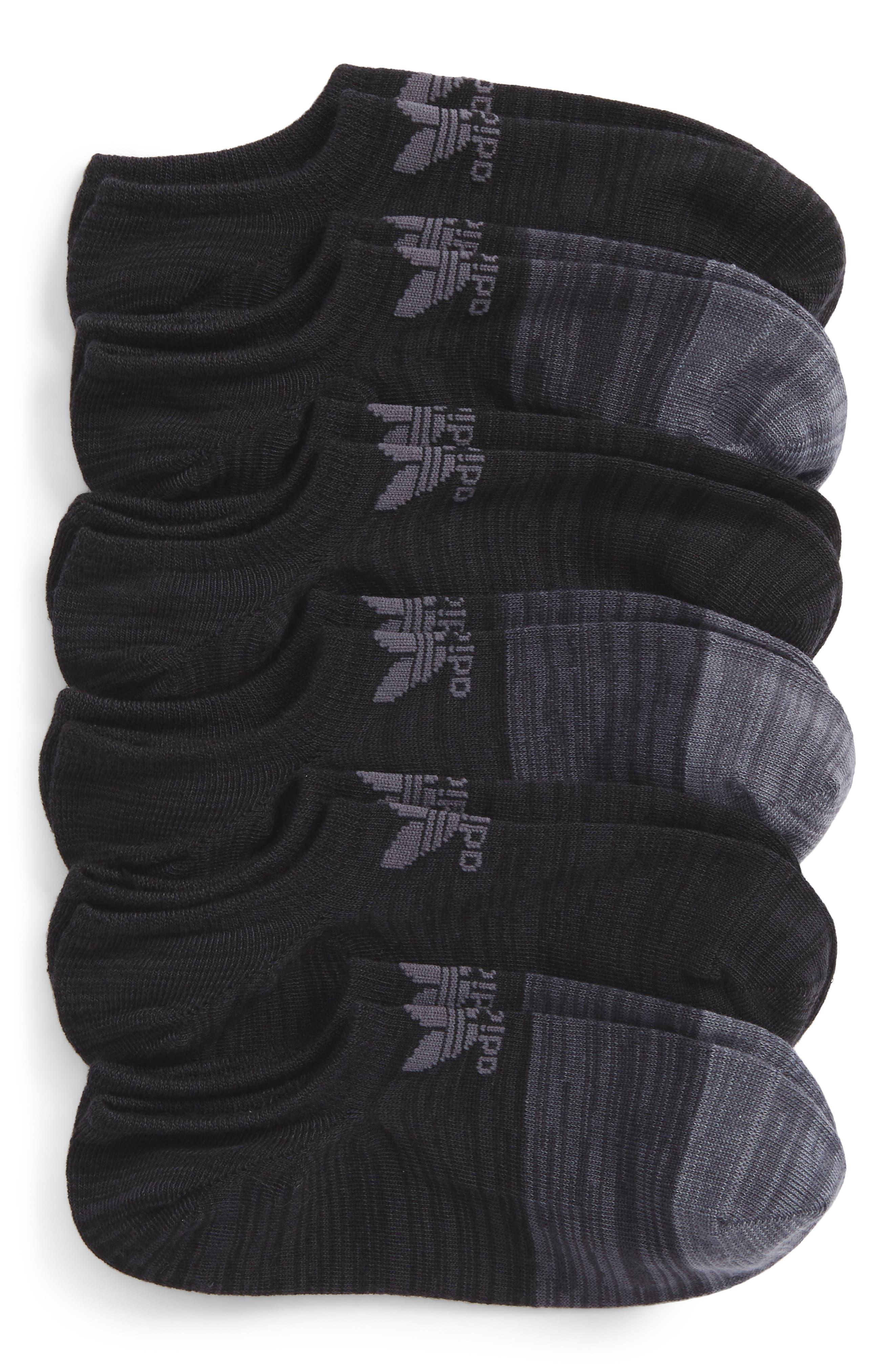Blocked 4-Pack Socks,                             Main thumbnail 1, color,                             Black