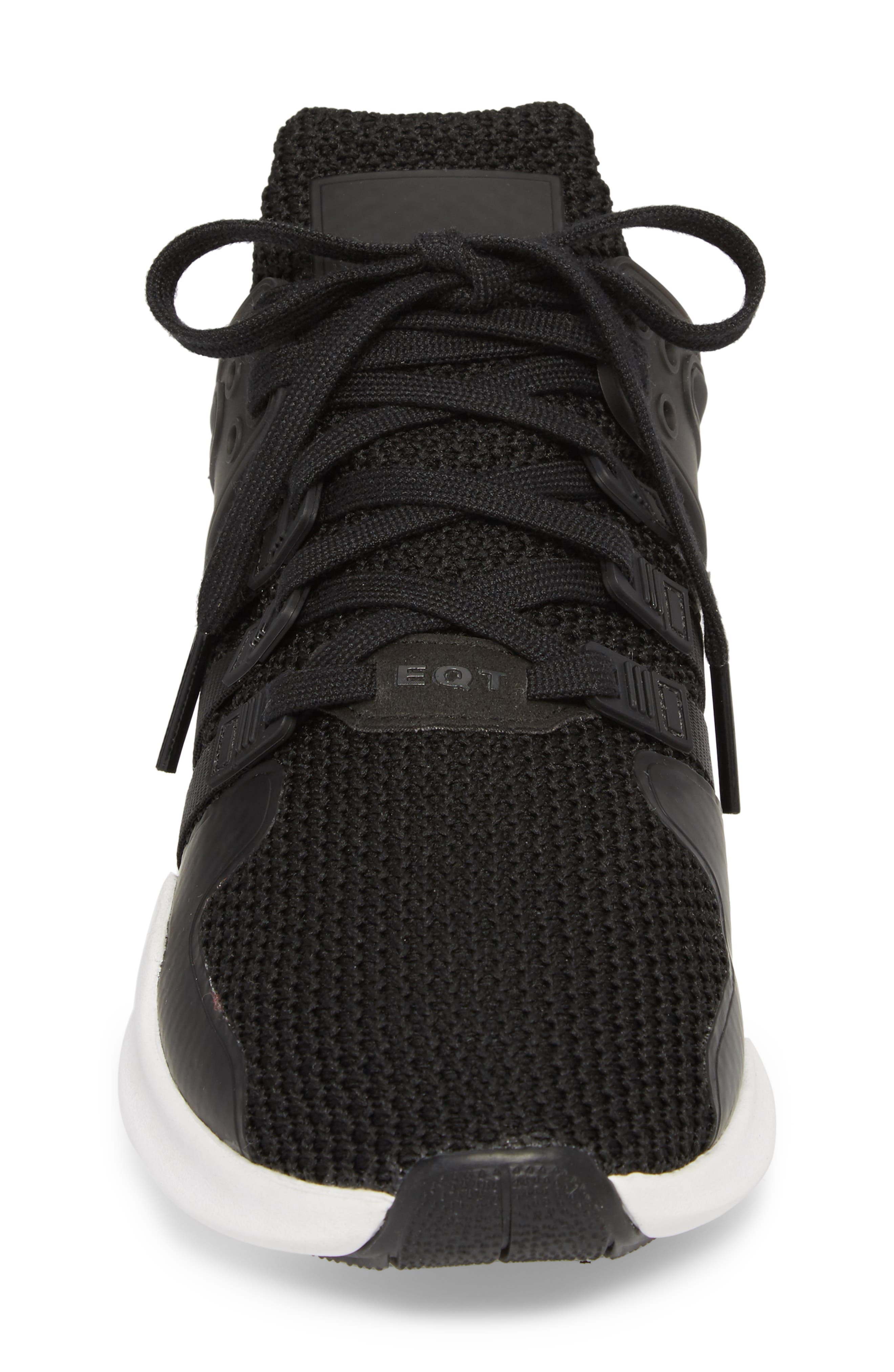 EQT Support Adv Sneaker,                             Alternate thumbnail 4, color,                             Core Black/ White