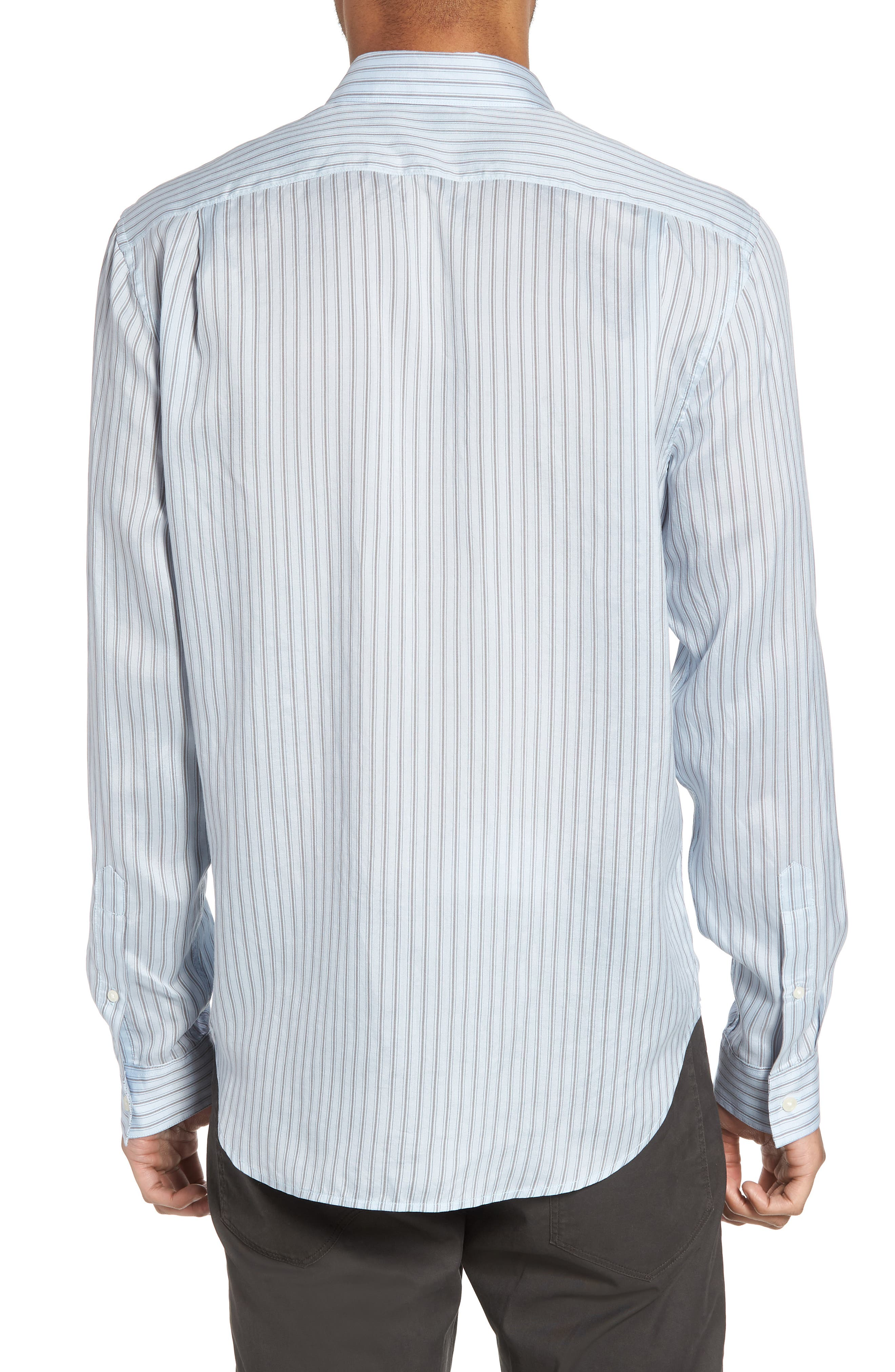 Slim Fit Stretch Stripe Sport Shirt,                             Alternate thumbnail 2, color,                             Feather