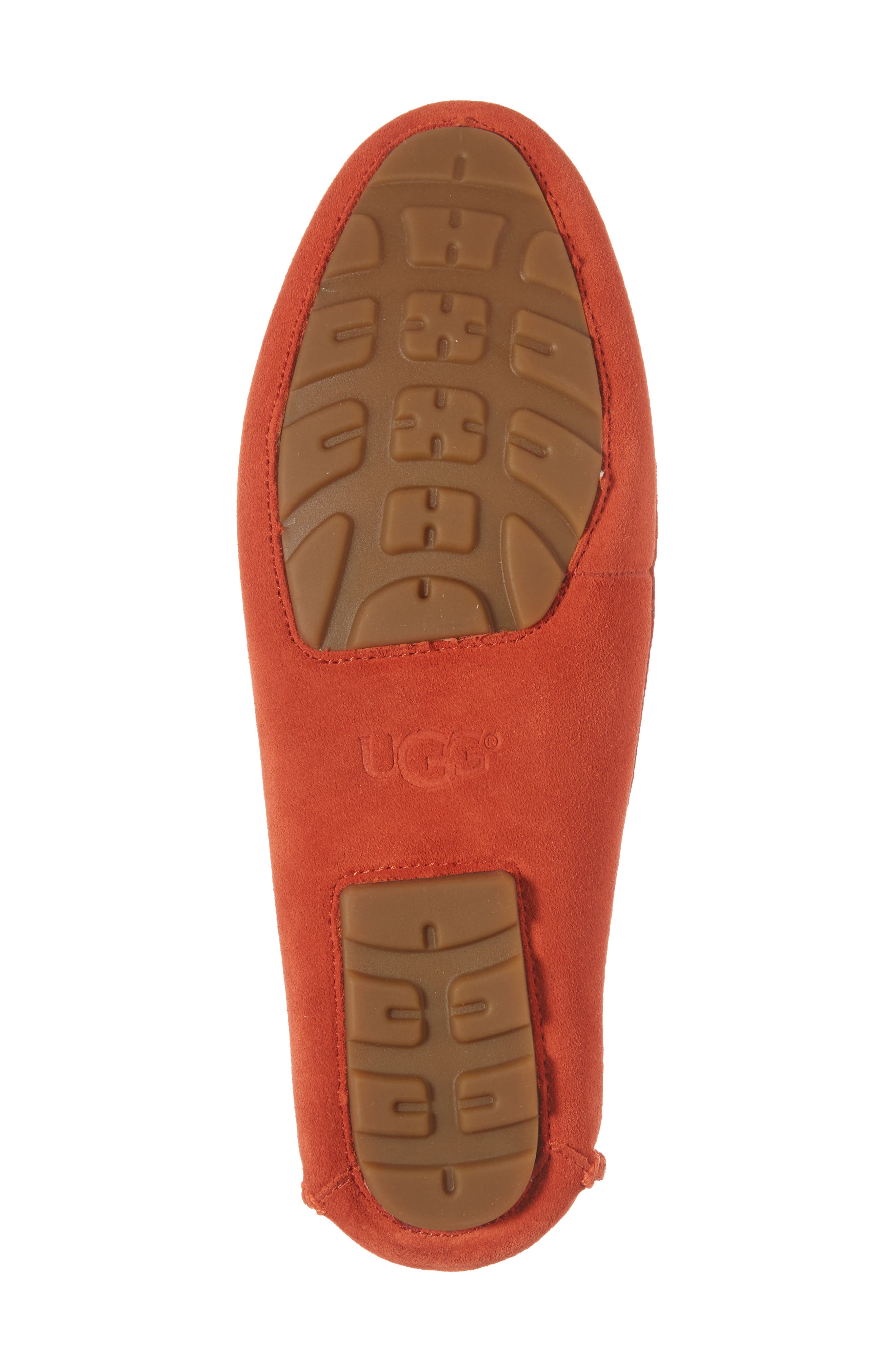 Clair Flat,                             Alternate thumbnail 6, color,                             Red Orange Suede