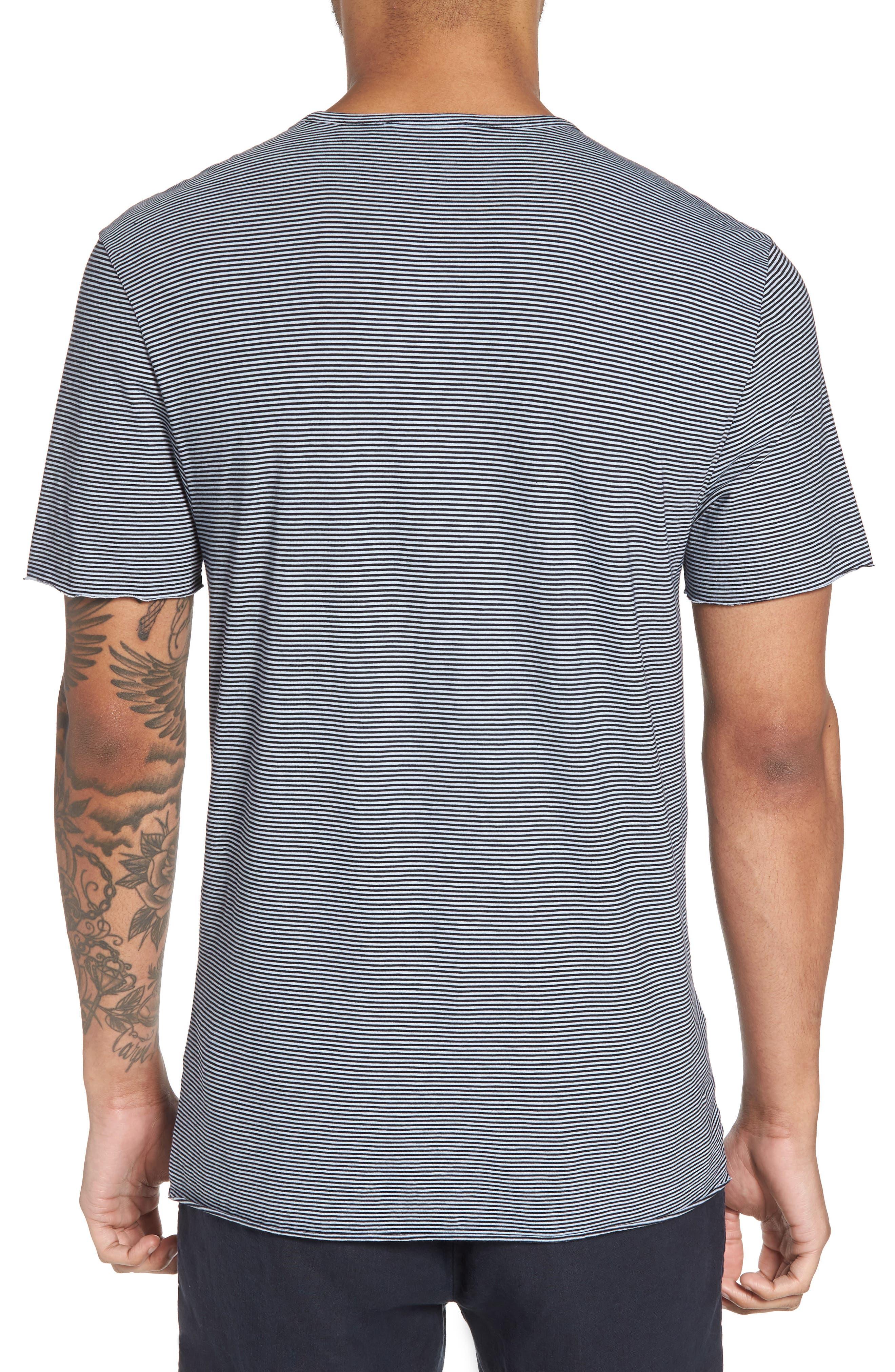 Slim Fit Stripe Pocket T-Shirt,                             Alternate thumbnail 2, color,                             New Coastal/ Feather