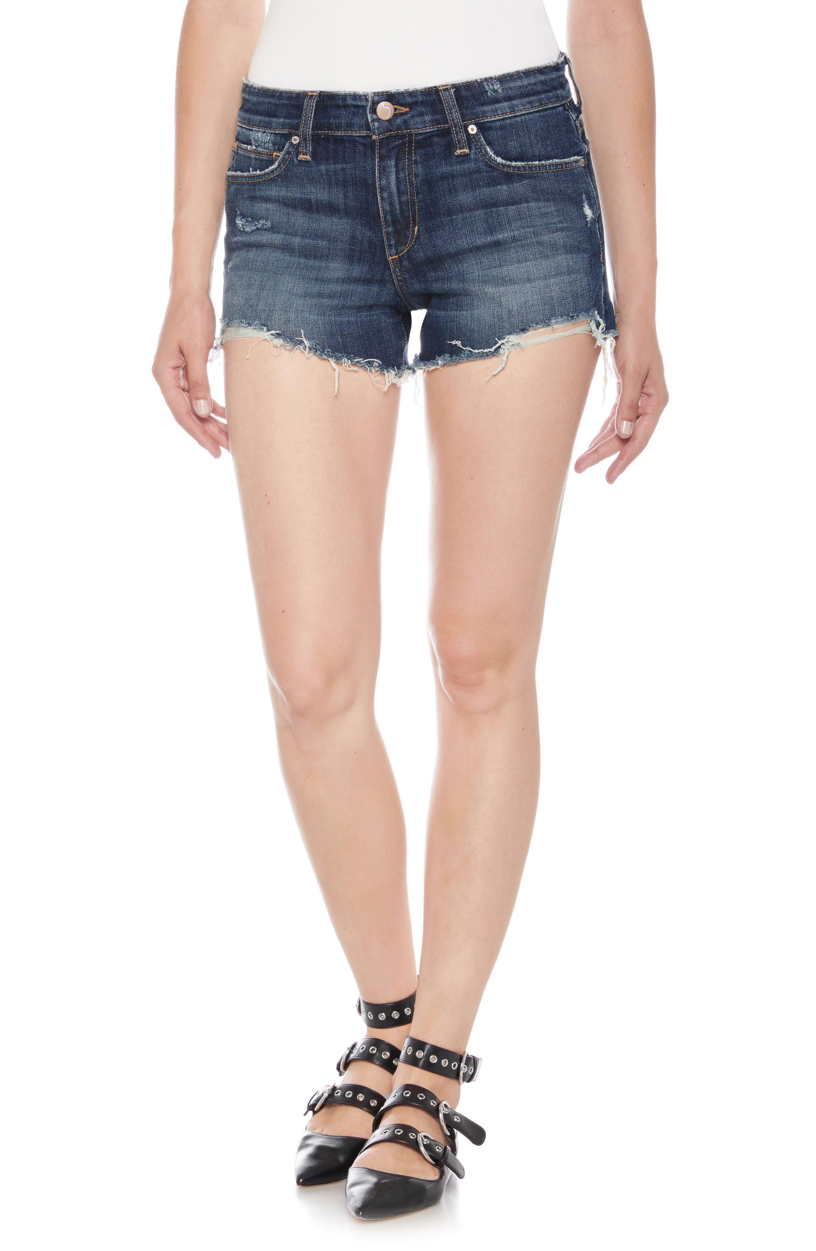 Cutoff Denim Shorts,                         Main,                         color, Alvina