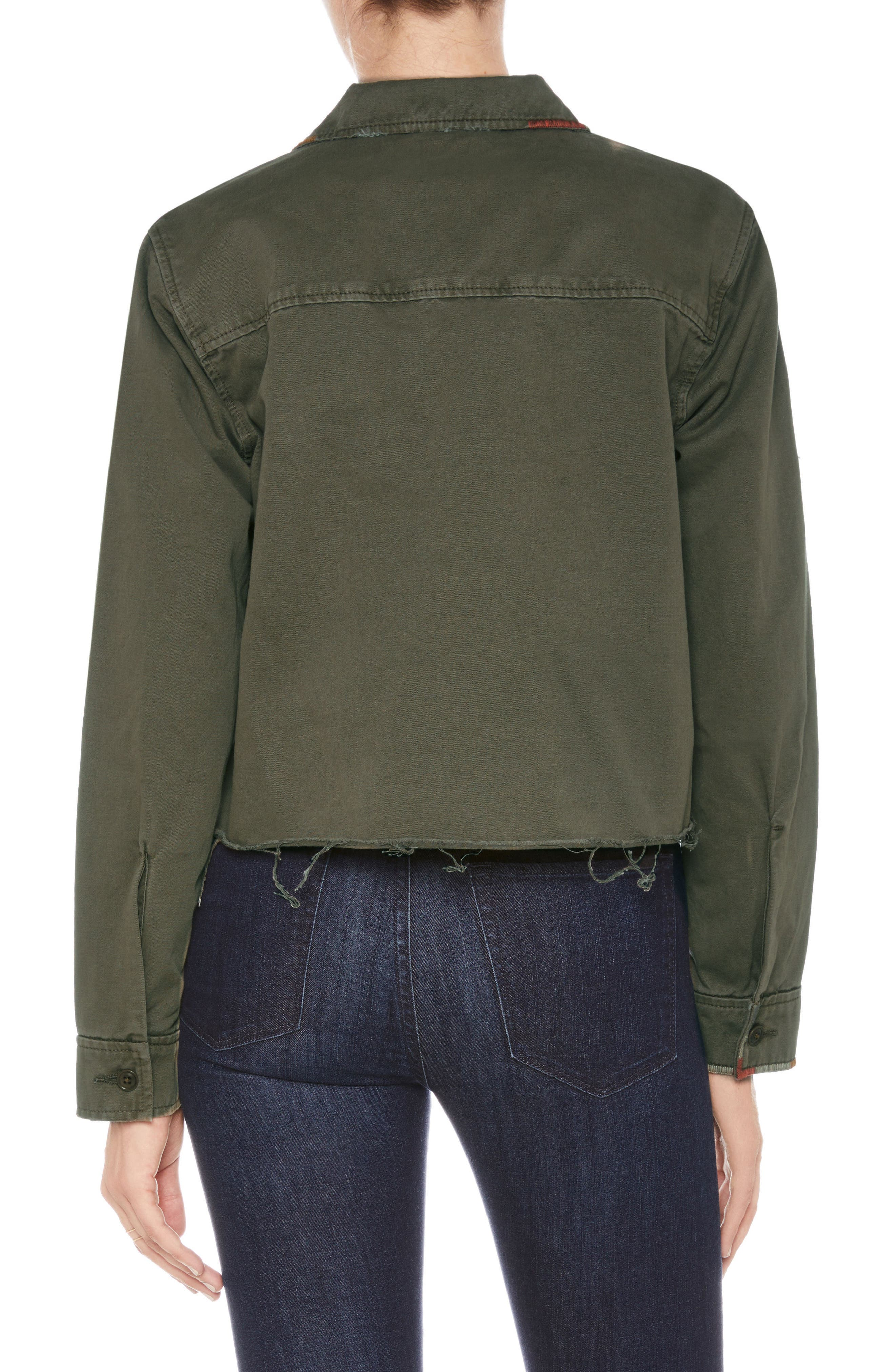 Marie Military Shirt Jacket,                             Alternate thumbnail 2, color,                             Earth Army
