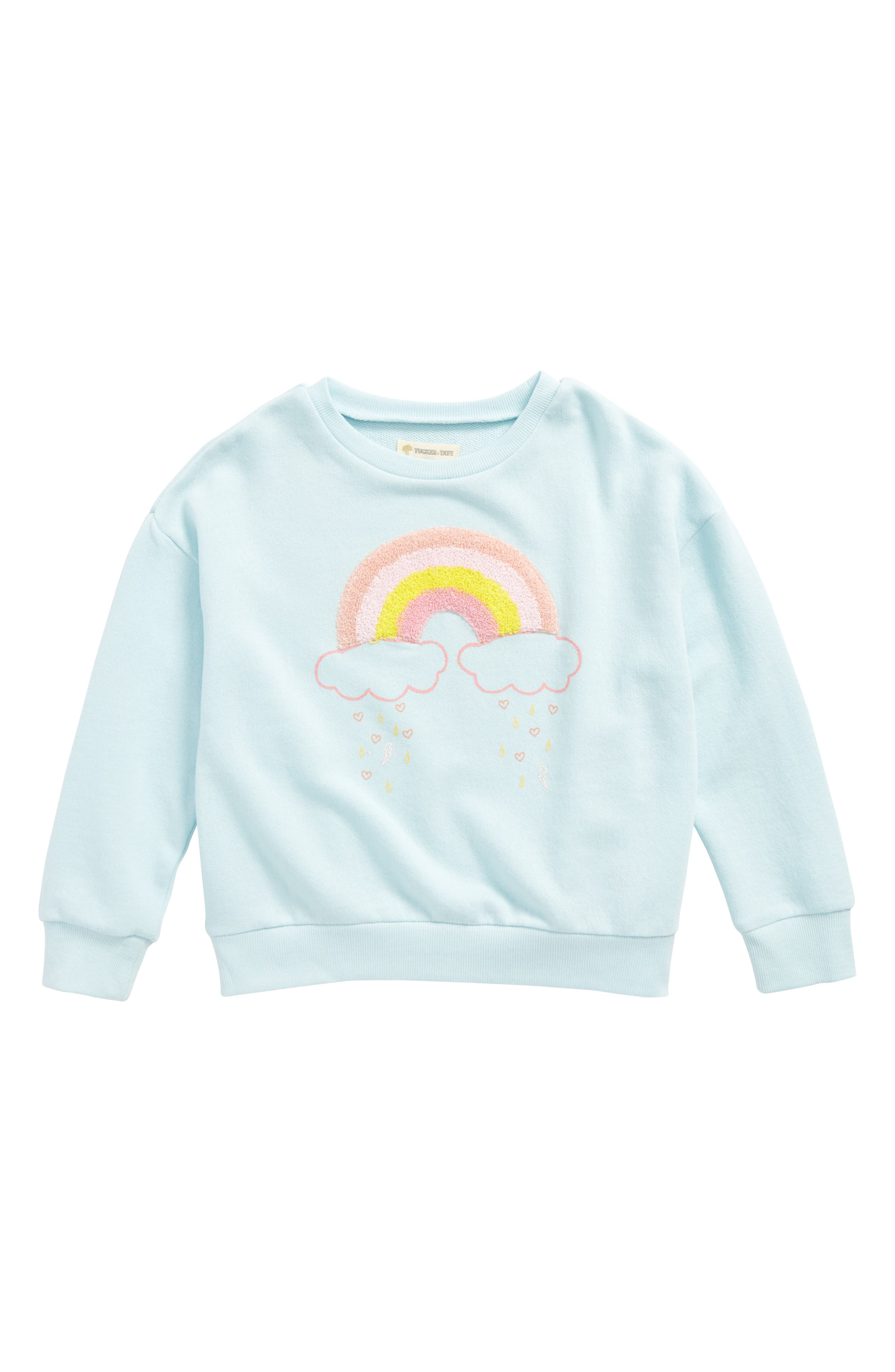 Tucker + Tate Rainbow Appliqué Sweatshirt (Toddler Girls, Little Girls & Big Girls)