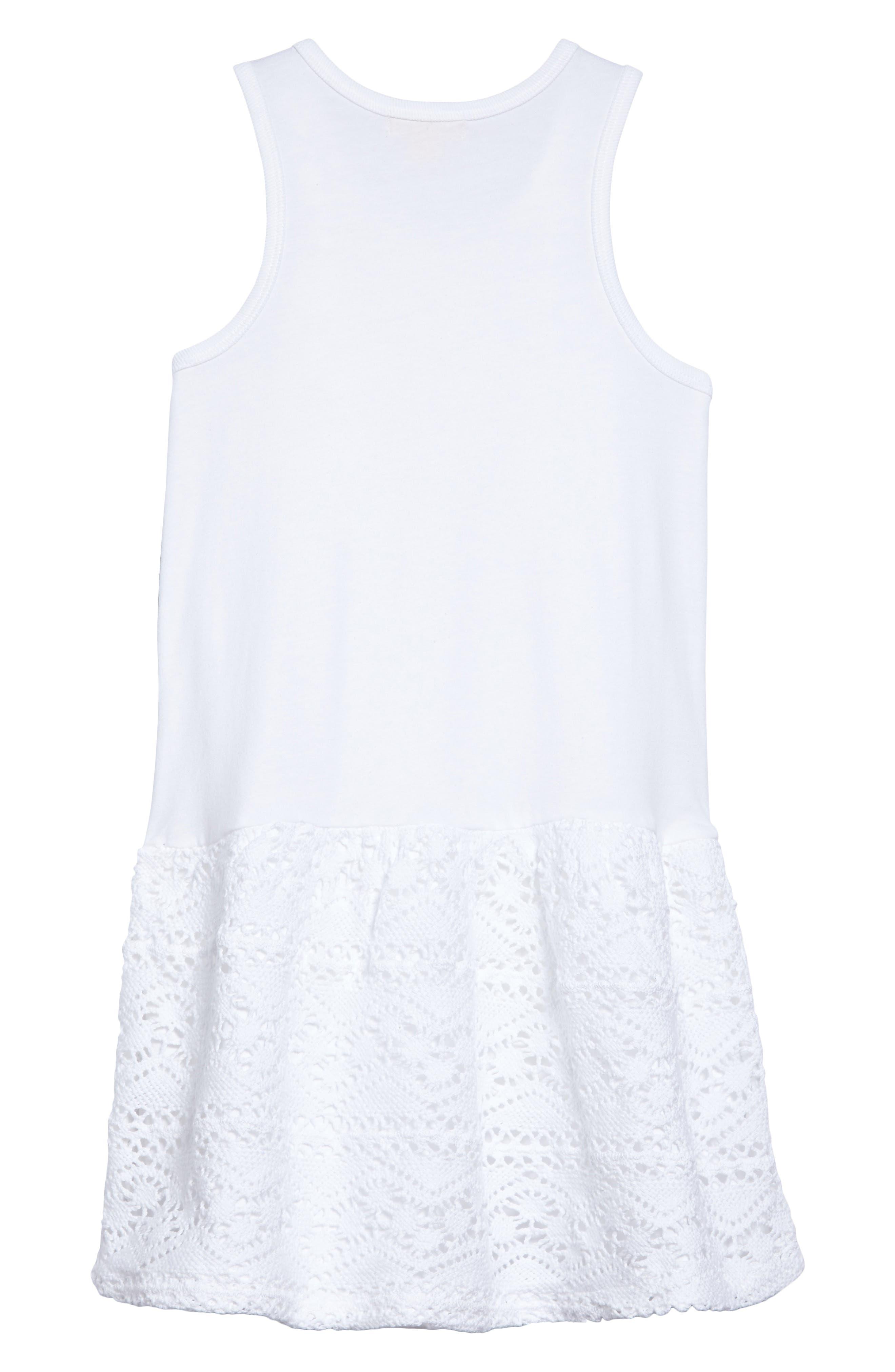 Crochet Organic Cotton Dress,                             Alternate thumbnail 2, color,                             Cloud
