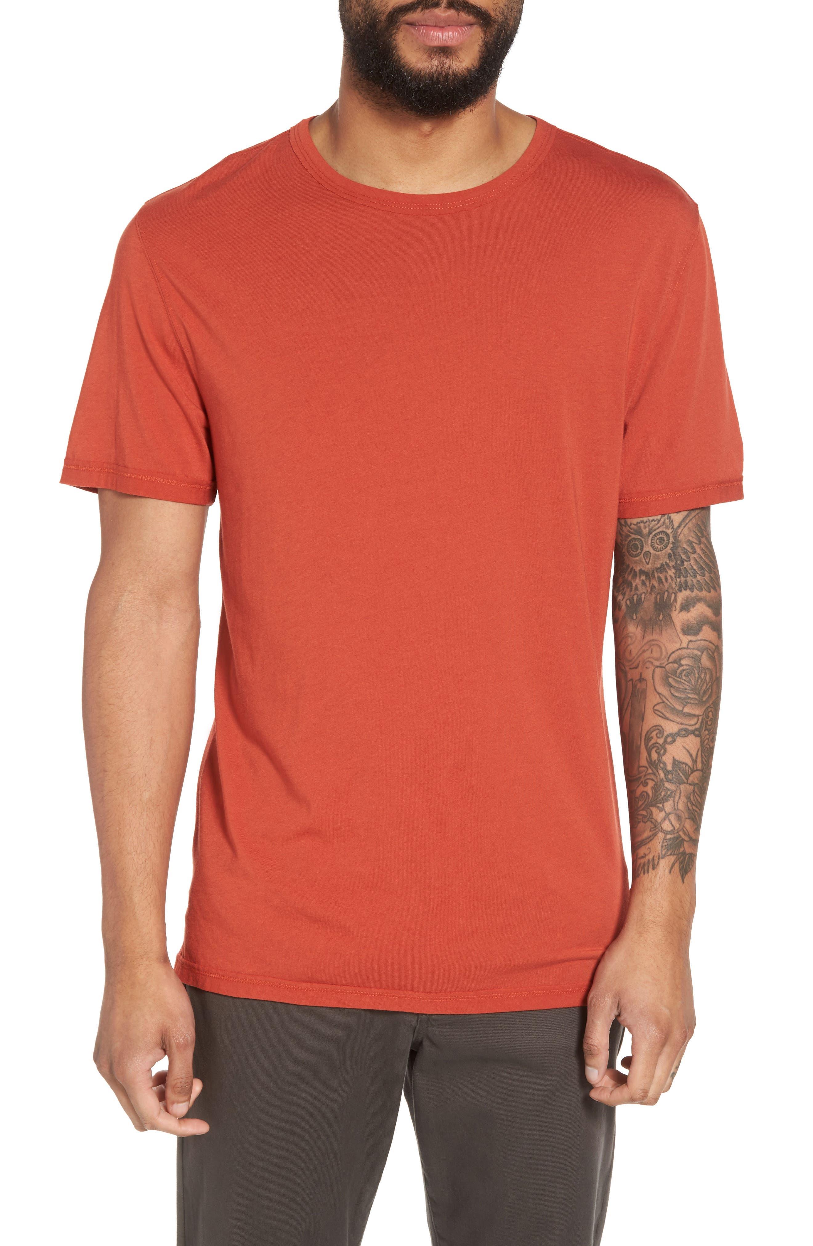Reverse Hem Slim Fit T-Shirt,                             Main thumbnail 1, color,                             Ginger