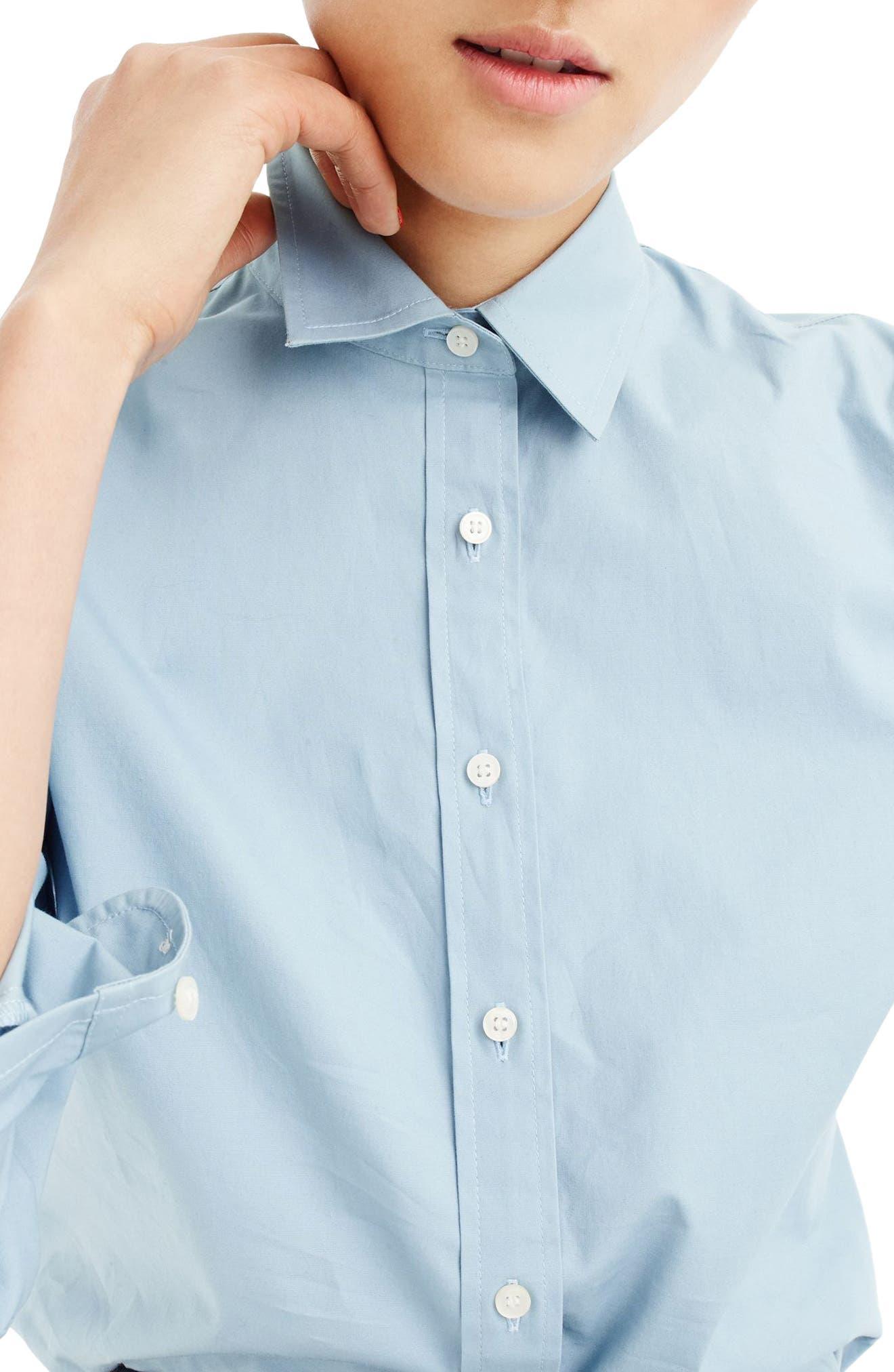J.Crew Perfect Shirt,                             Main thumbnail 1, color,                             Misty Blue