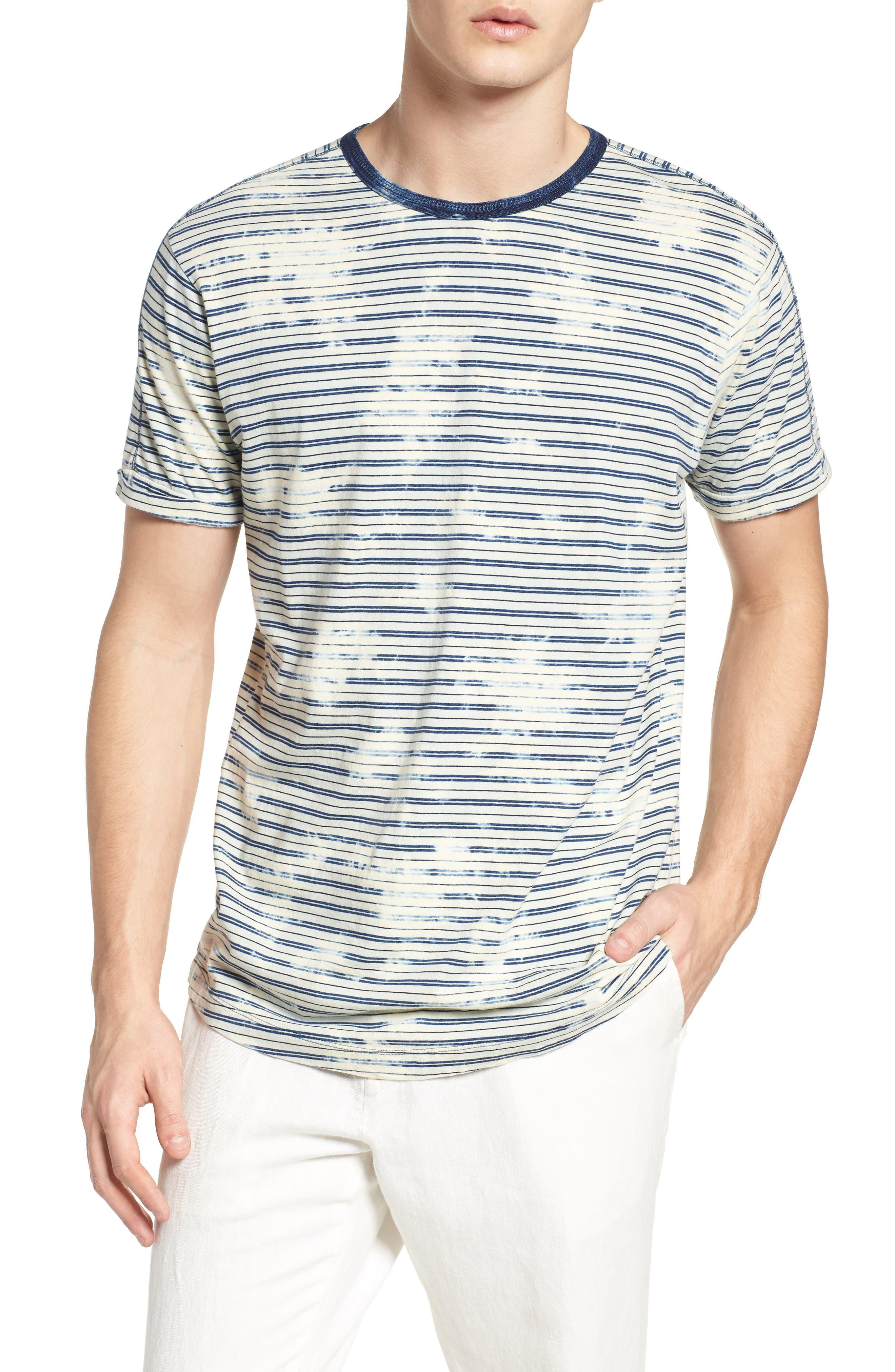 Washed Crewneck T-Shirt,                         Main,                         color, Combo A