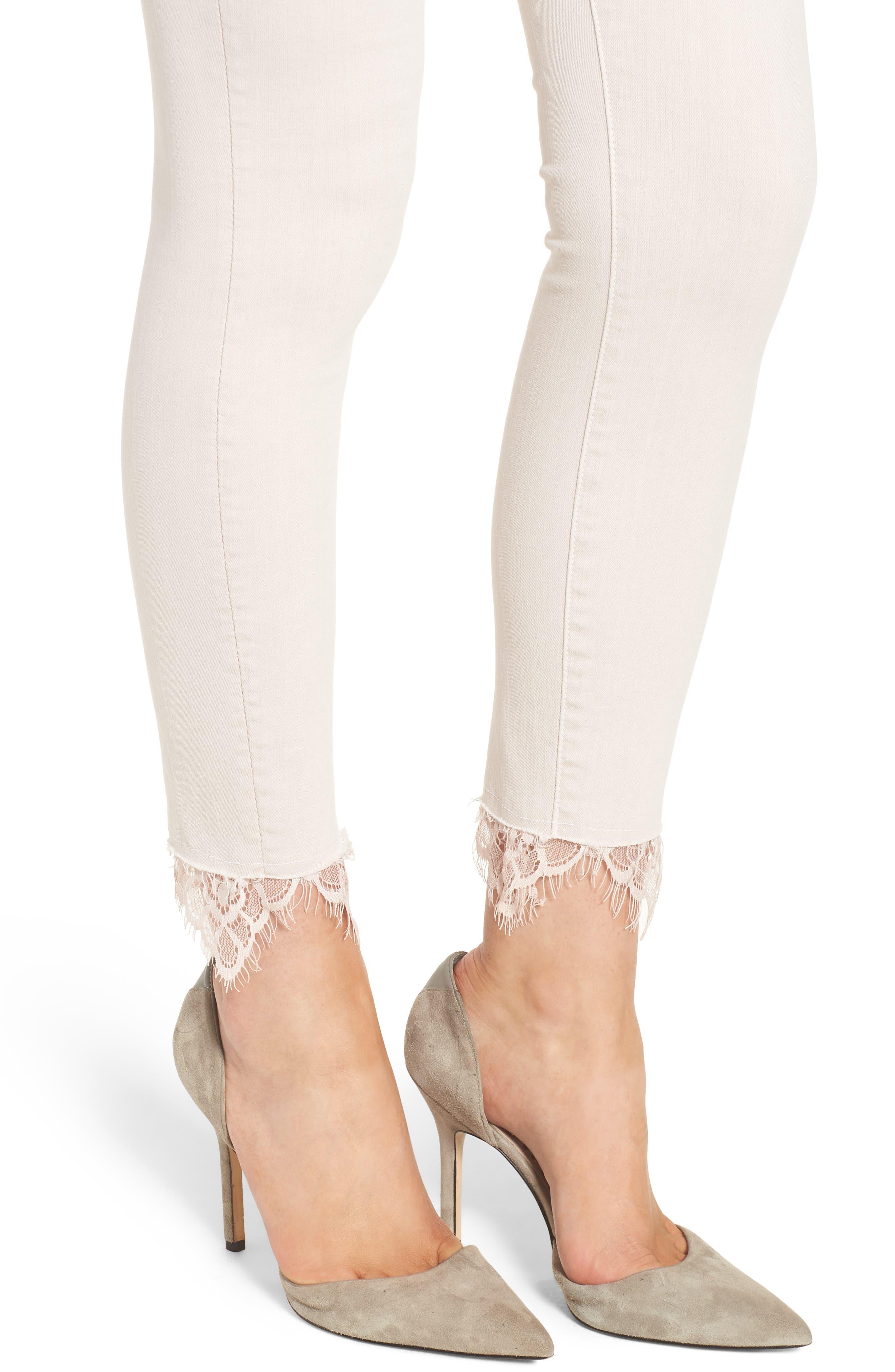The Looker Dagger High Waist Ankle Skinny Jeans,                             Alternate thumbnail 4, color,                             Blush
