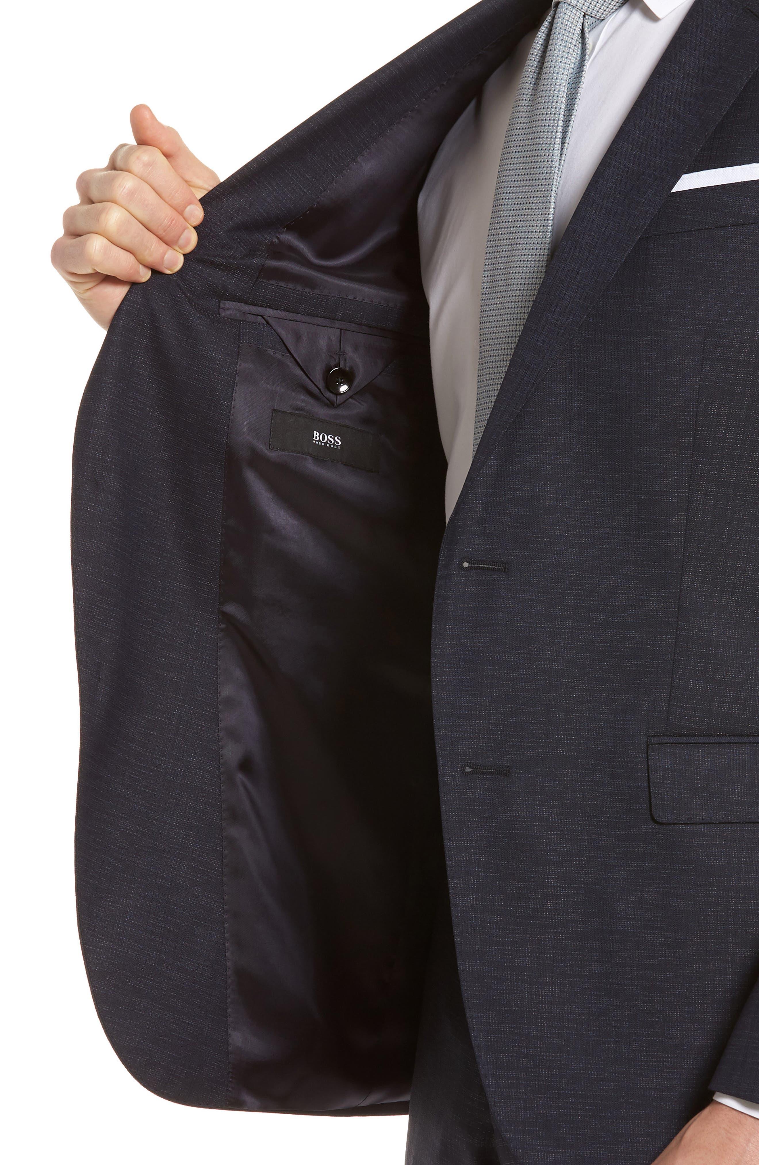 Novan/Ben Trim Fit Solid Wool Blend Suit,                             Alternate thumbnail 4, color,                             Navy