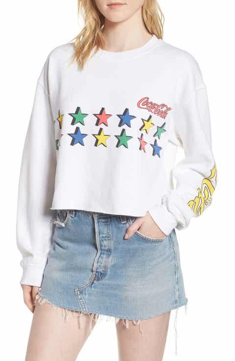 Junk Food Coke Stars Crop Sweatshirt