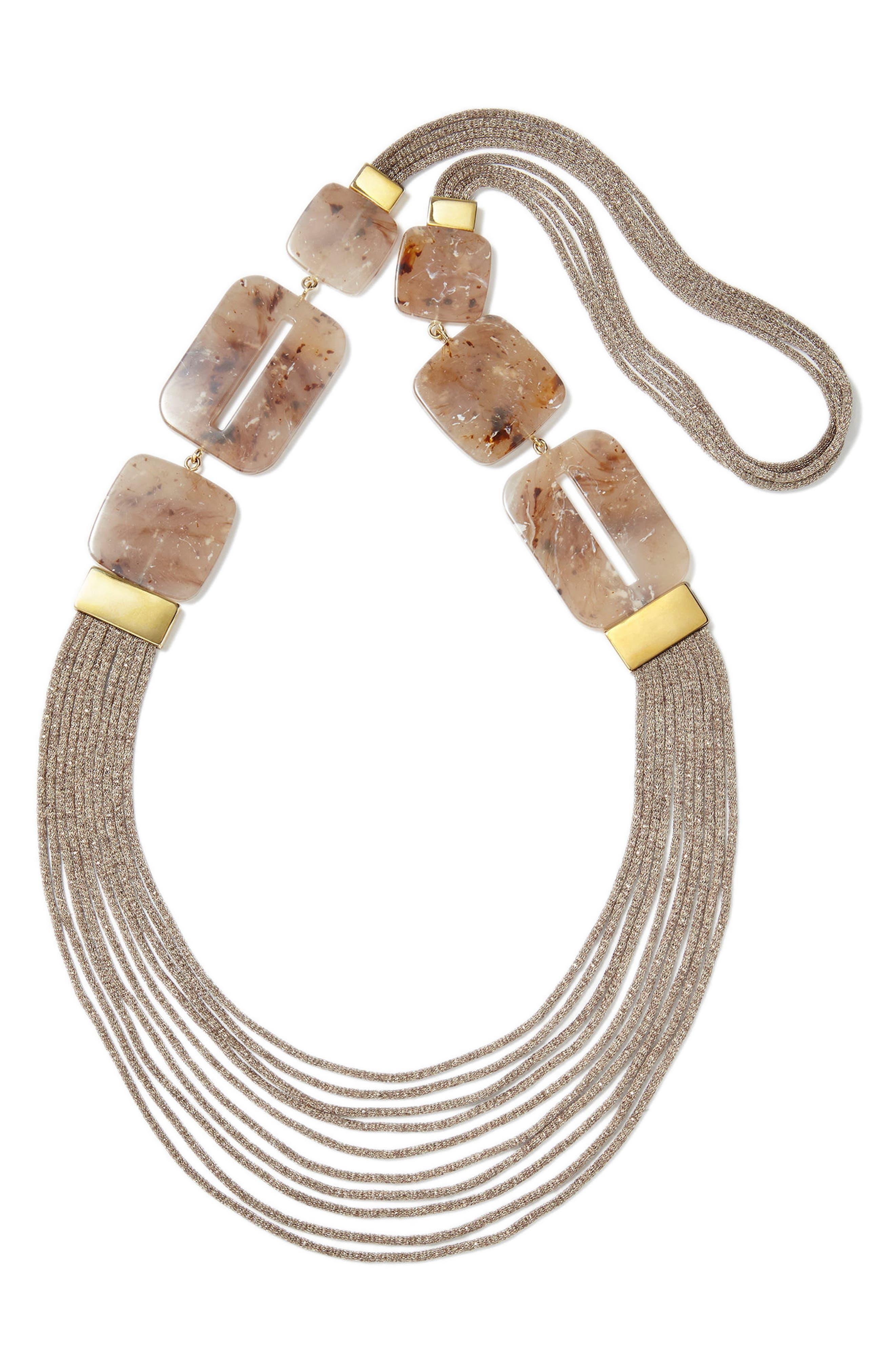 Necklace,                         Main,                         color, Tea