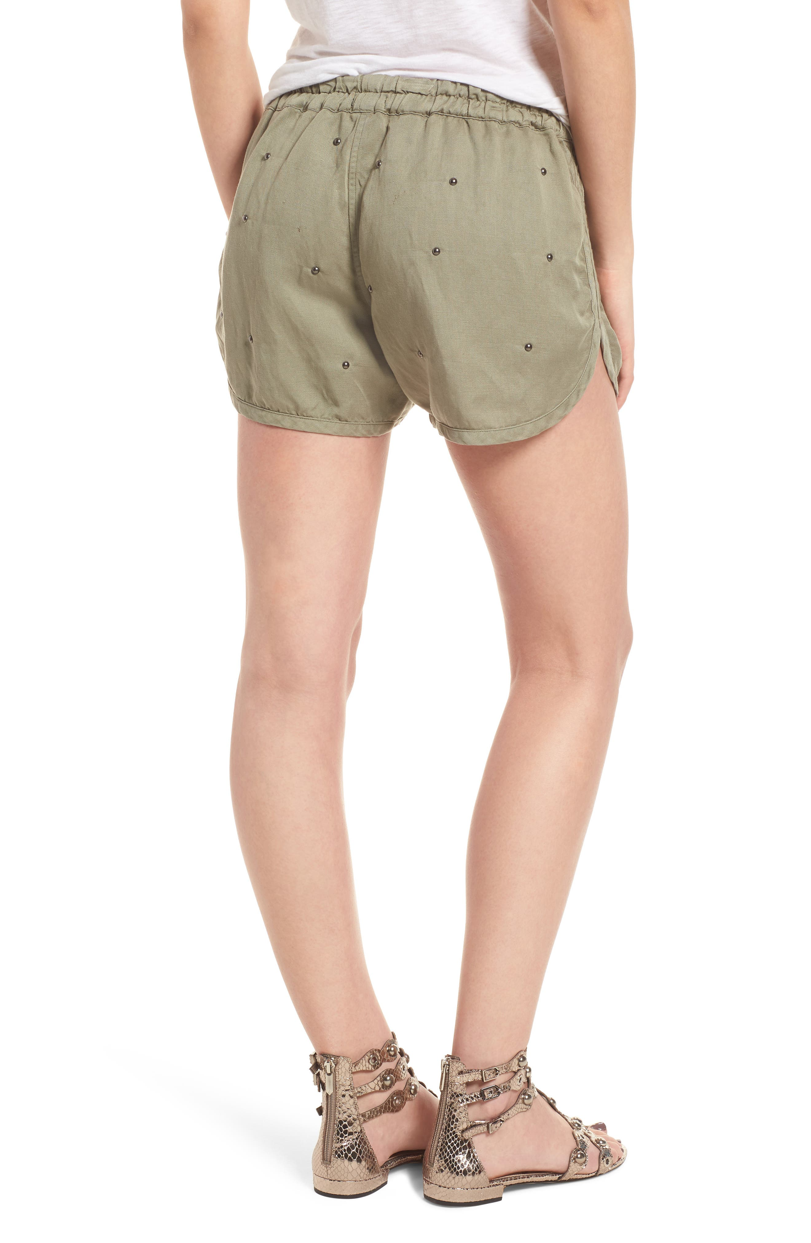 Thatcher Drawstring Shorts,                             Alternate thumbnail 2, color,                             Sage Studded