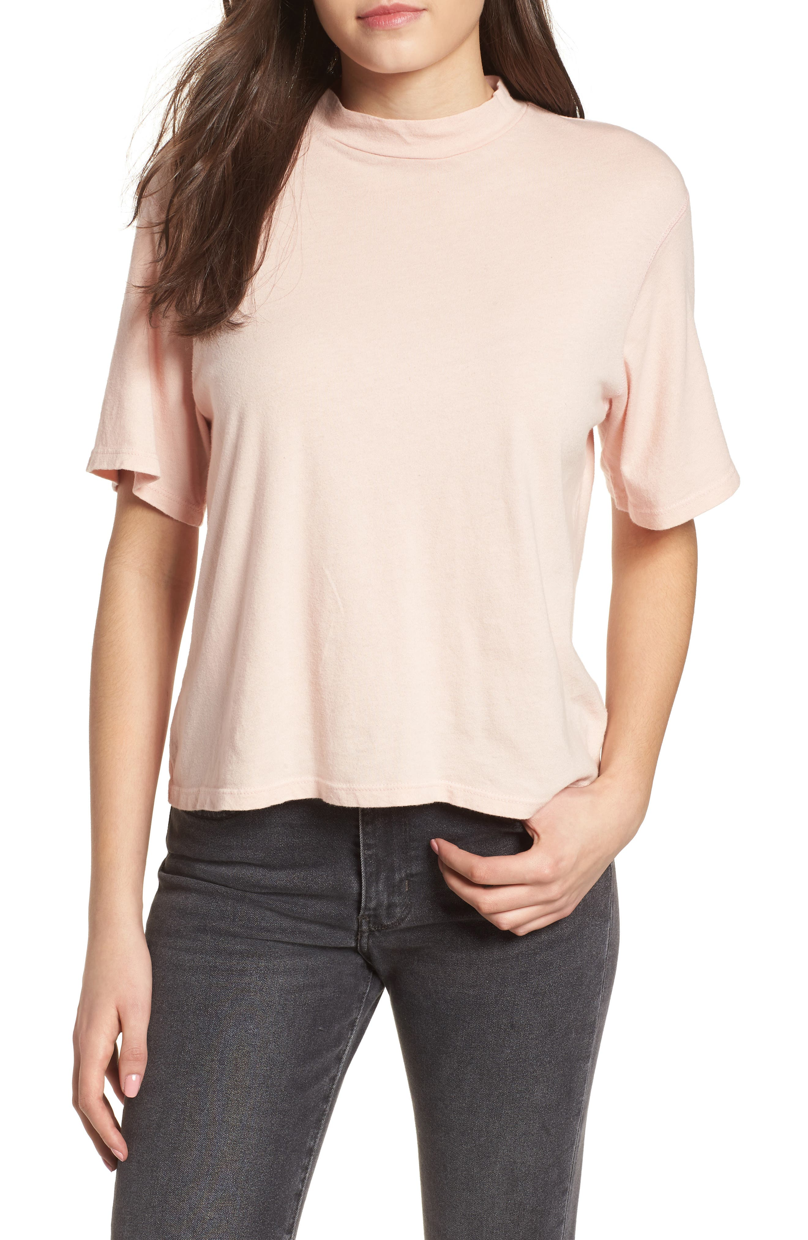 PST by Project Social T Mock Neck Tee