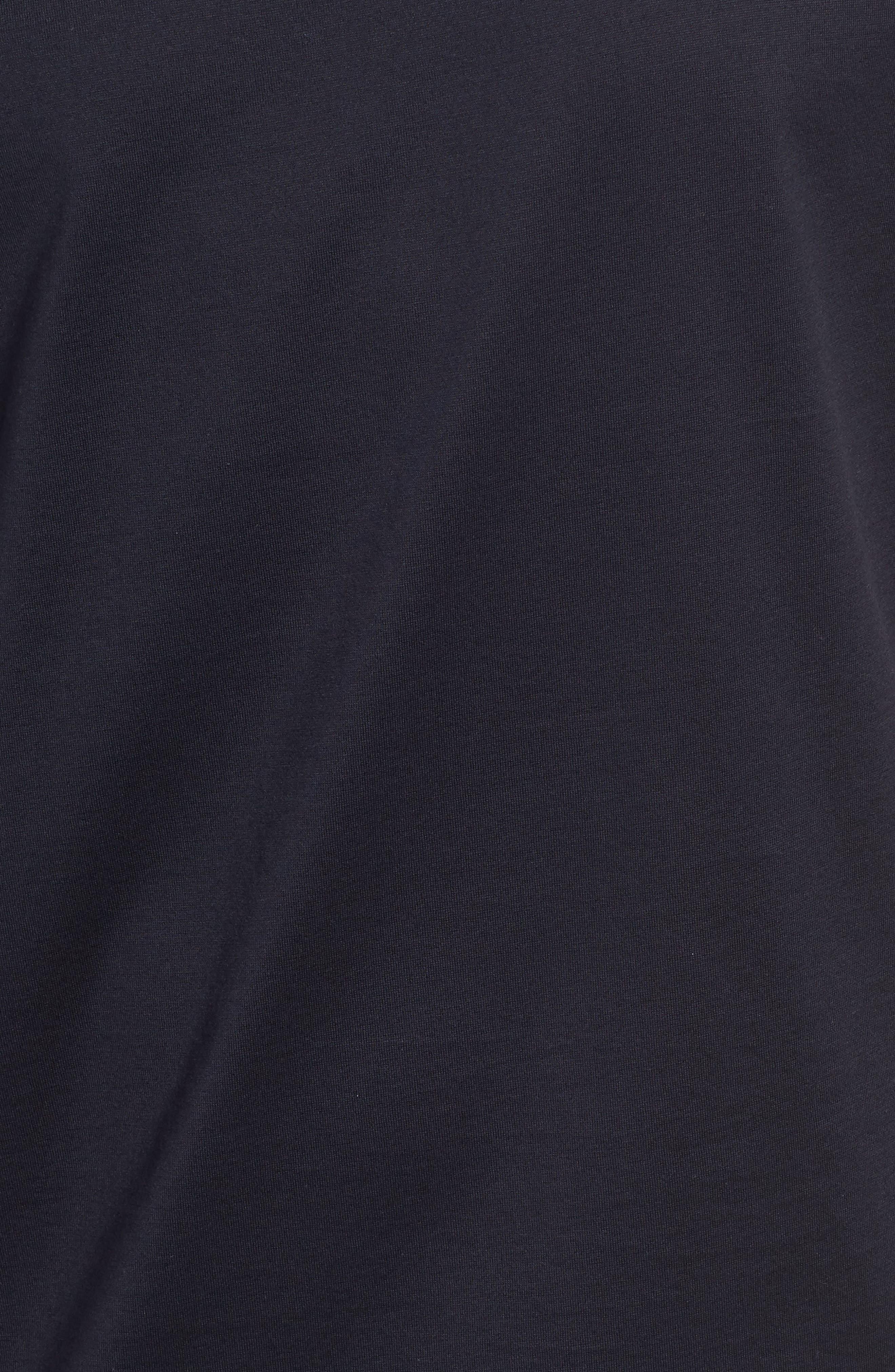 Block Crewneck T-Shirt,                             Alternate thumbnail 5, color,                             Navy Night Block