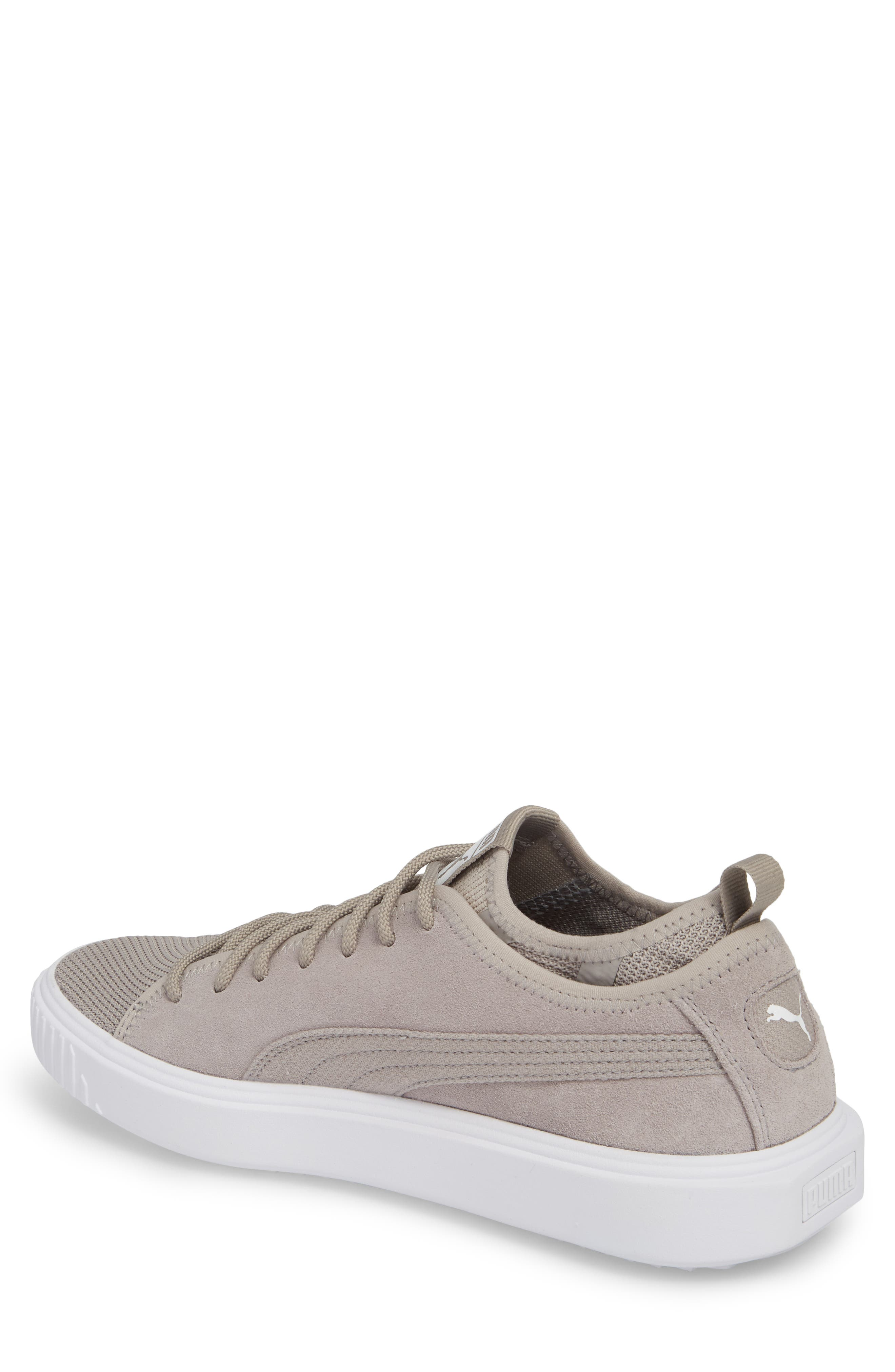 Breaker Mesh Sneaker,                             Alternate thumbnail 2, color,                             Ash/ White Suede