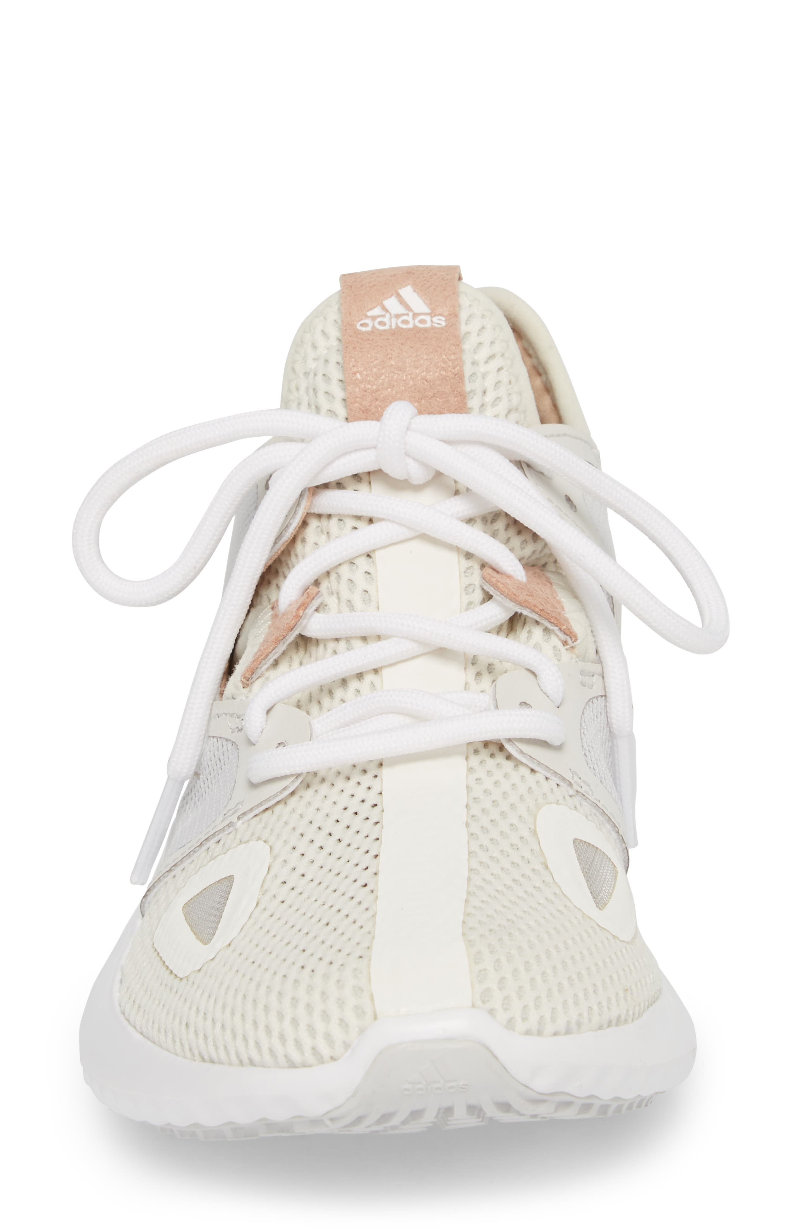 Run Lux Clima Running Shoe,                             Alternate thumbnail 4, color,                             Off White / Grey