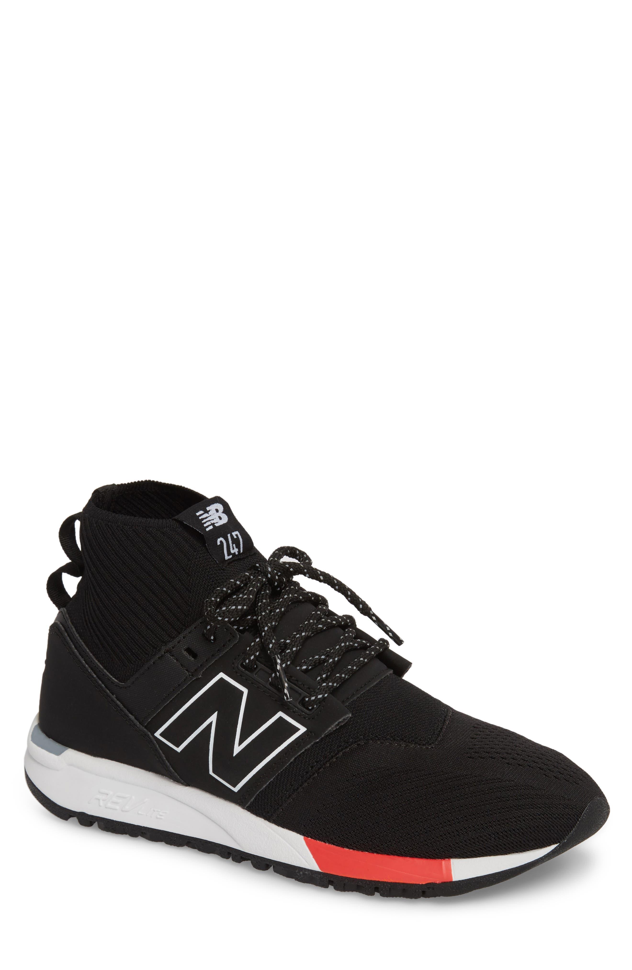 247 Mid Sneaker,                             Main thumbnail 1, color,                             Black