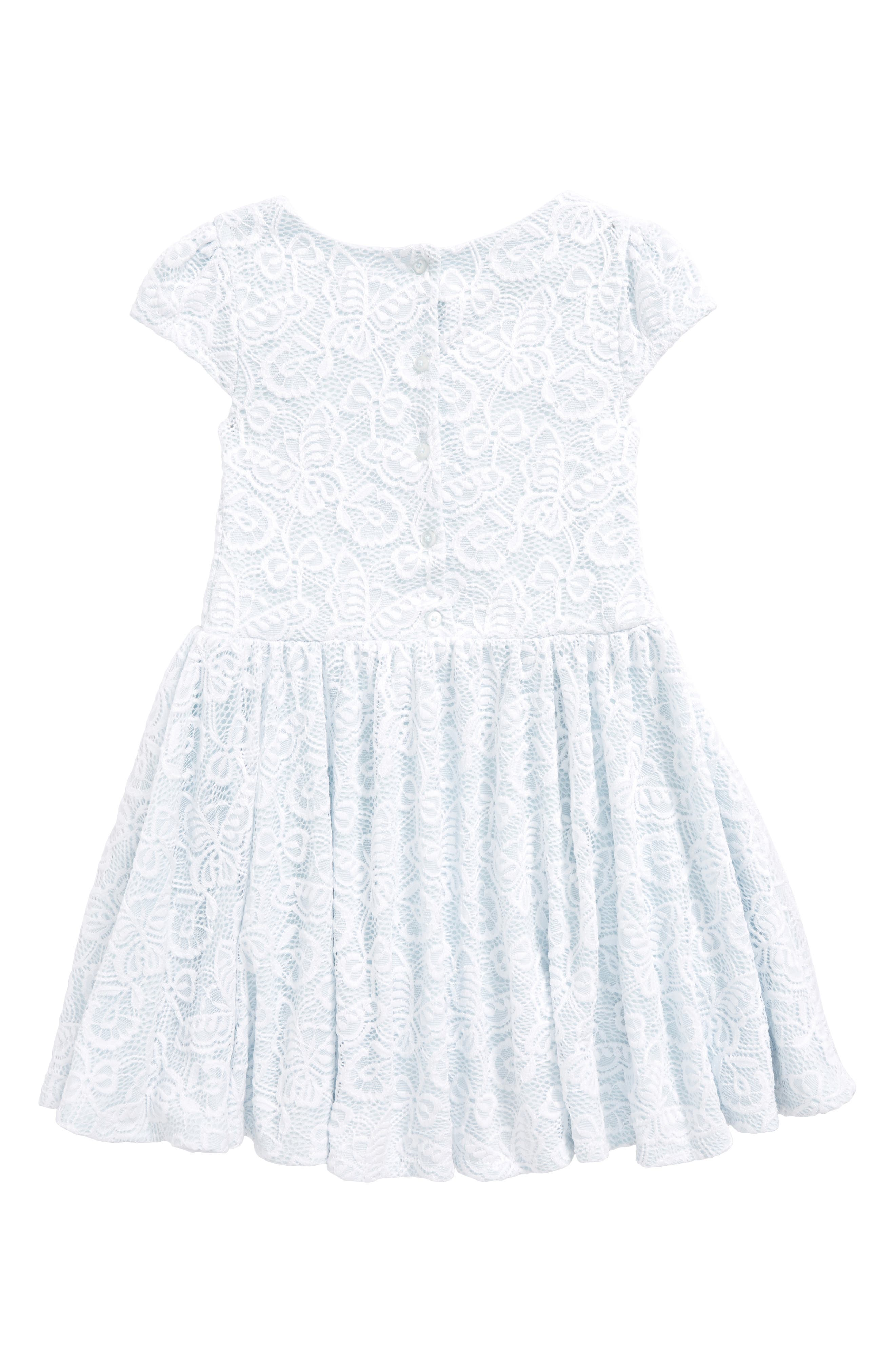 Pastourelle by Pippa and Julie Lace Skater Dress,                             Alternate thumbnail 2, color,                             White