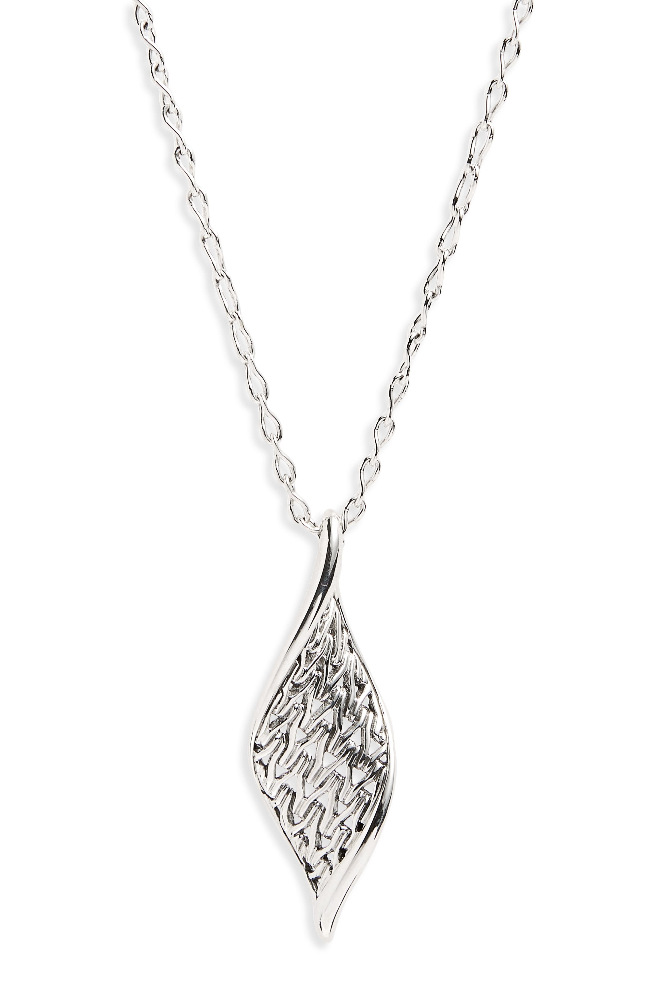John Hardy Classic Chain Wave Pendant Necklace