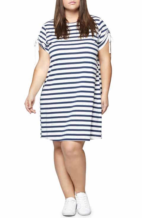Sanctuary Ojai Stripe T-Shirt Dress (Plus Size)