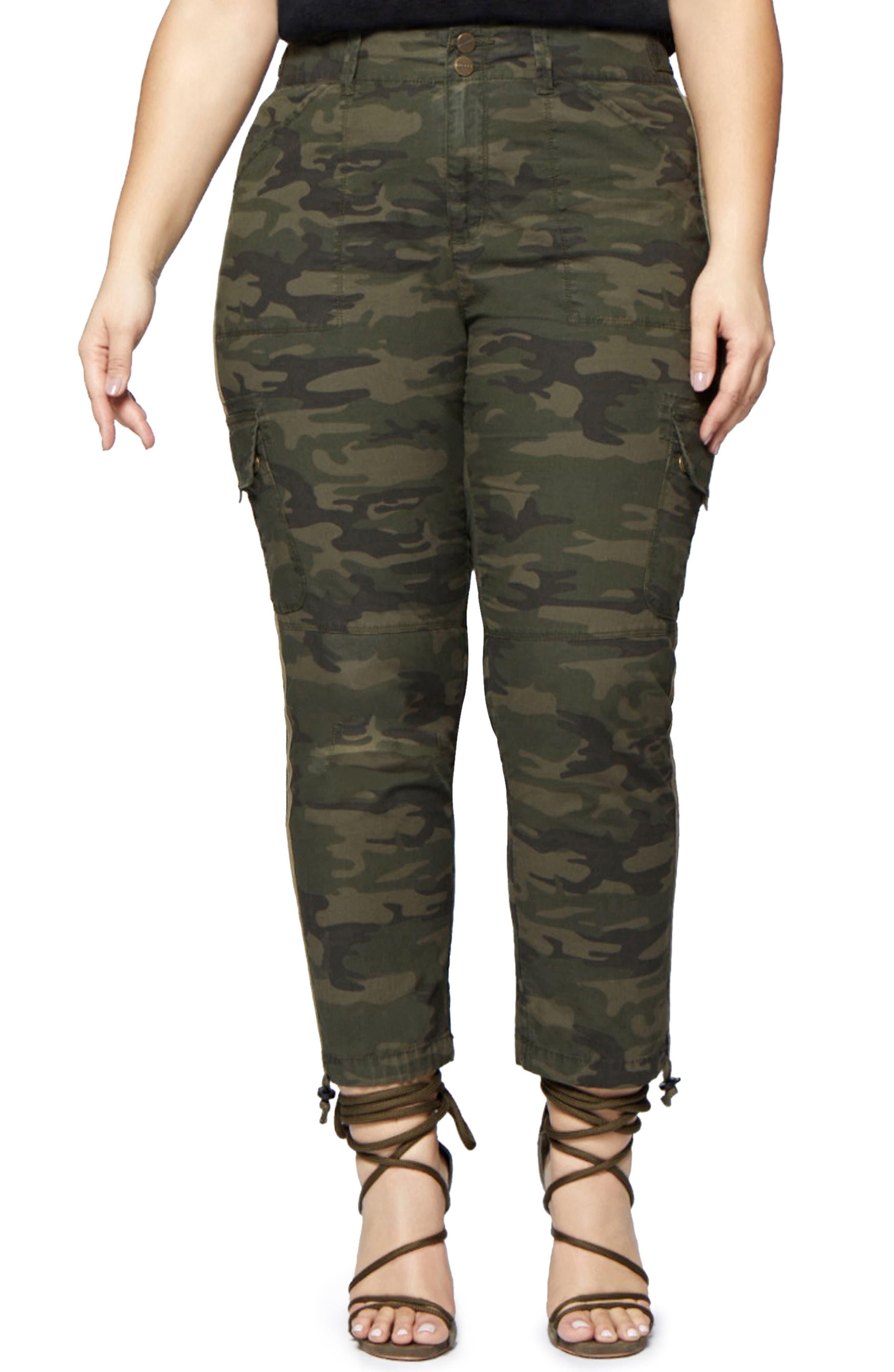 Terrain Camo Crop Cargo Pants,                         Main,                         color, Mother Nature Camo