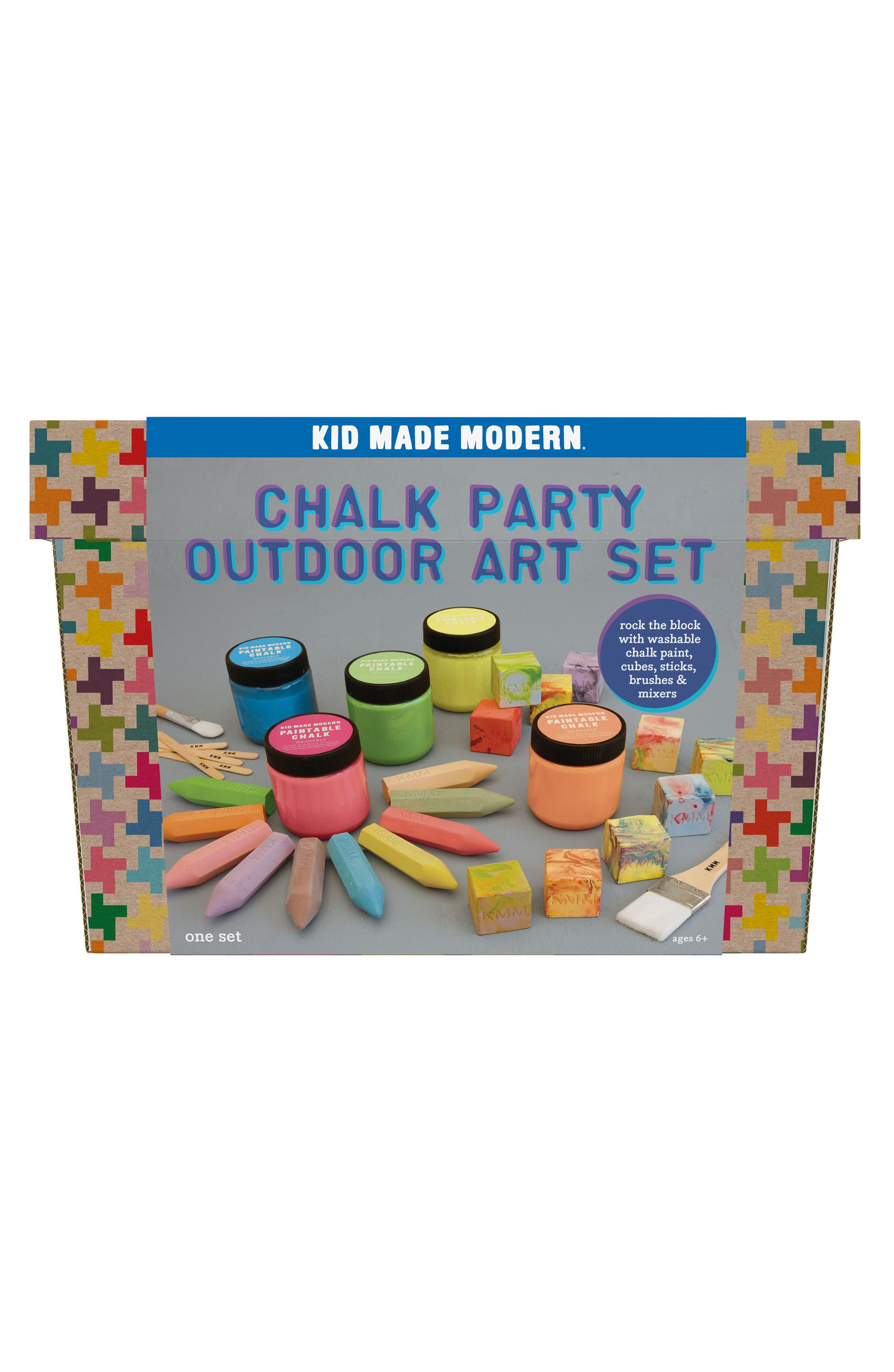 Chalk Party Outdoor Art Set,                             Main thumbnail 1, color,                             Orange