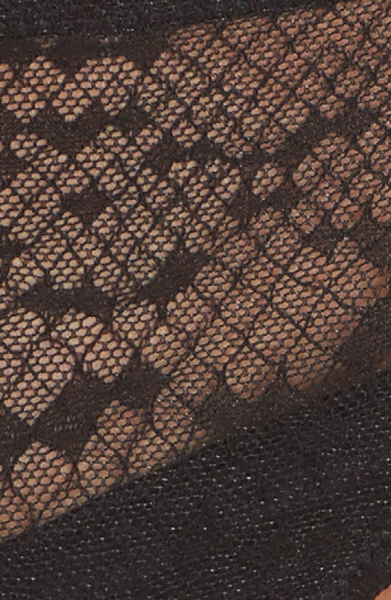 Snake Lace Thong,                             Alternate thumbnail 9, color,                             Black