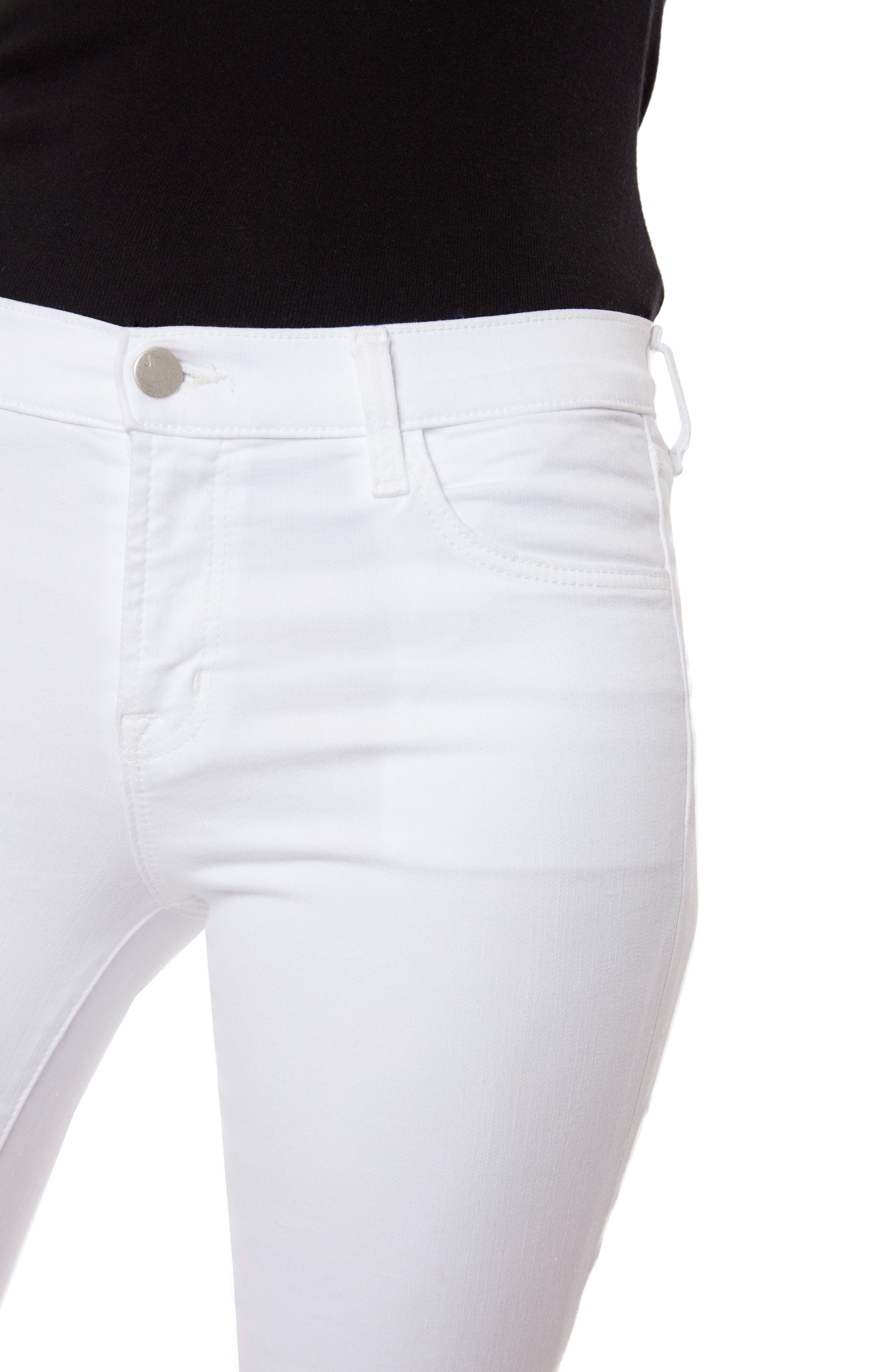 Alternate Image 4  - J Brand Selena Crop Bootcut Jeans (White Lace)