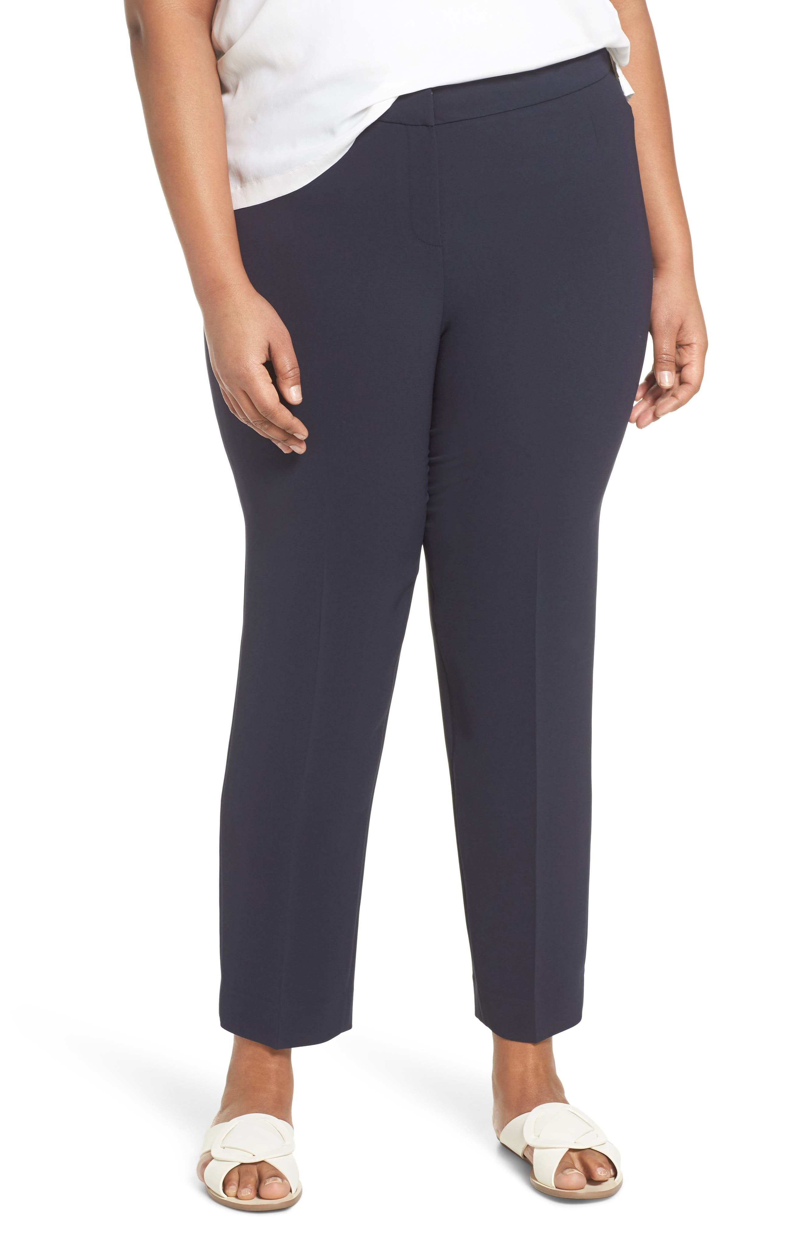 Bleecker - Finesse Crepe Pants,                         Main,                         color, Ink