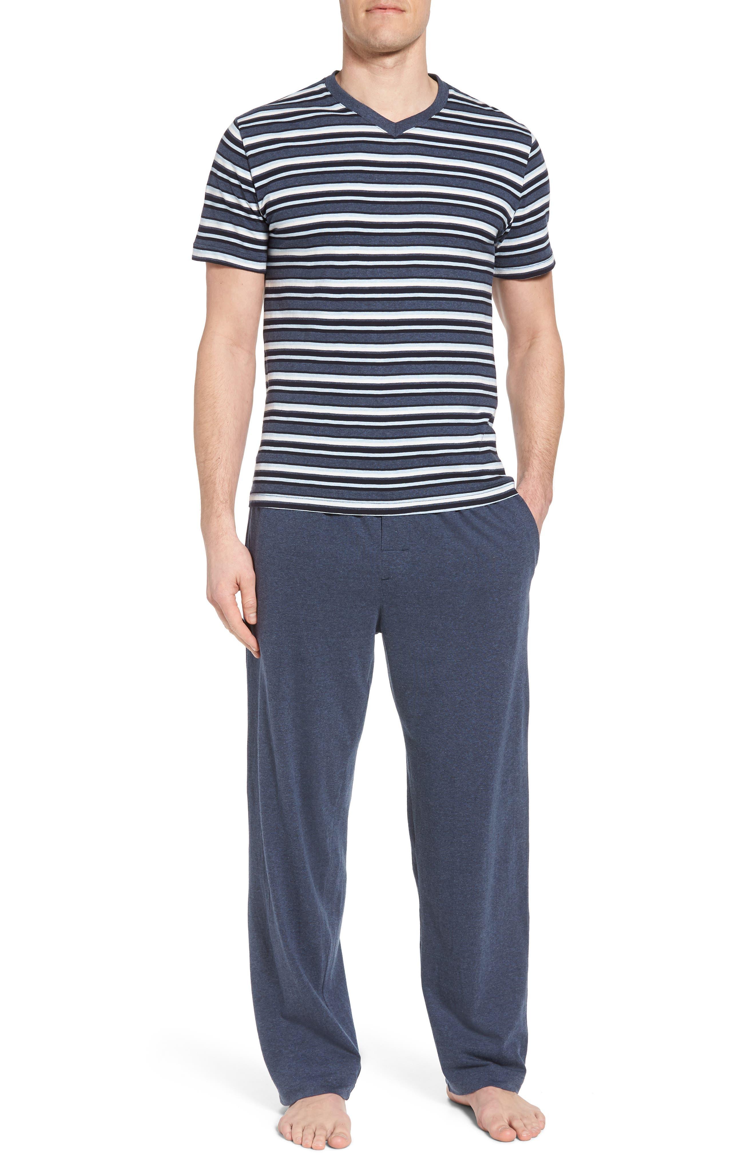 Majetic International Sleep On It Pajama Set,                             Main thumbnail 1, color,                             Alfresco Stripe