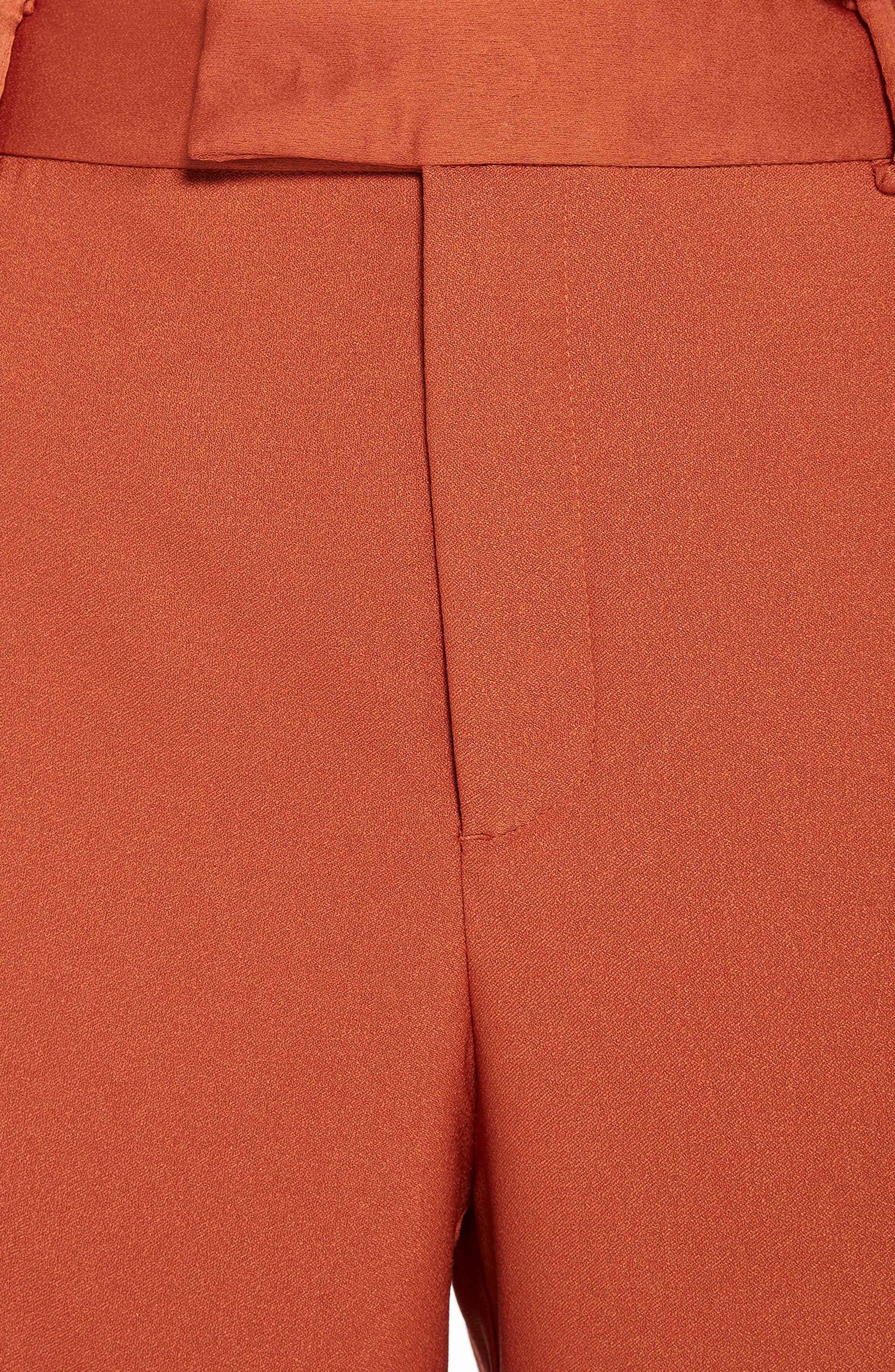 Wide Leg Pants,                             Alternate thumbnail 4, color,                             Color 2018 Tiger Orange