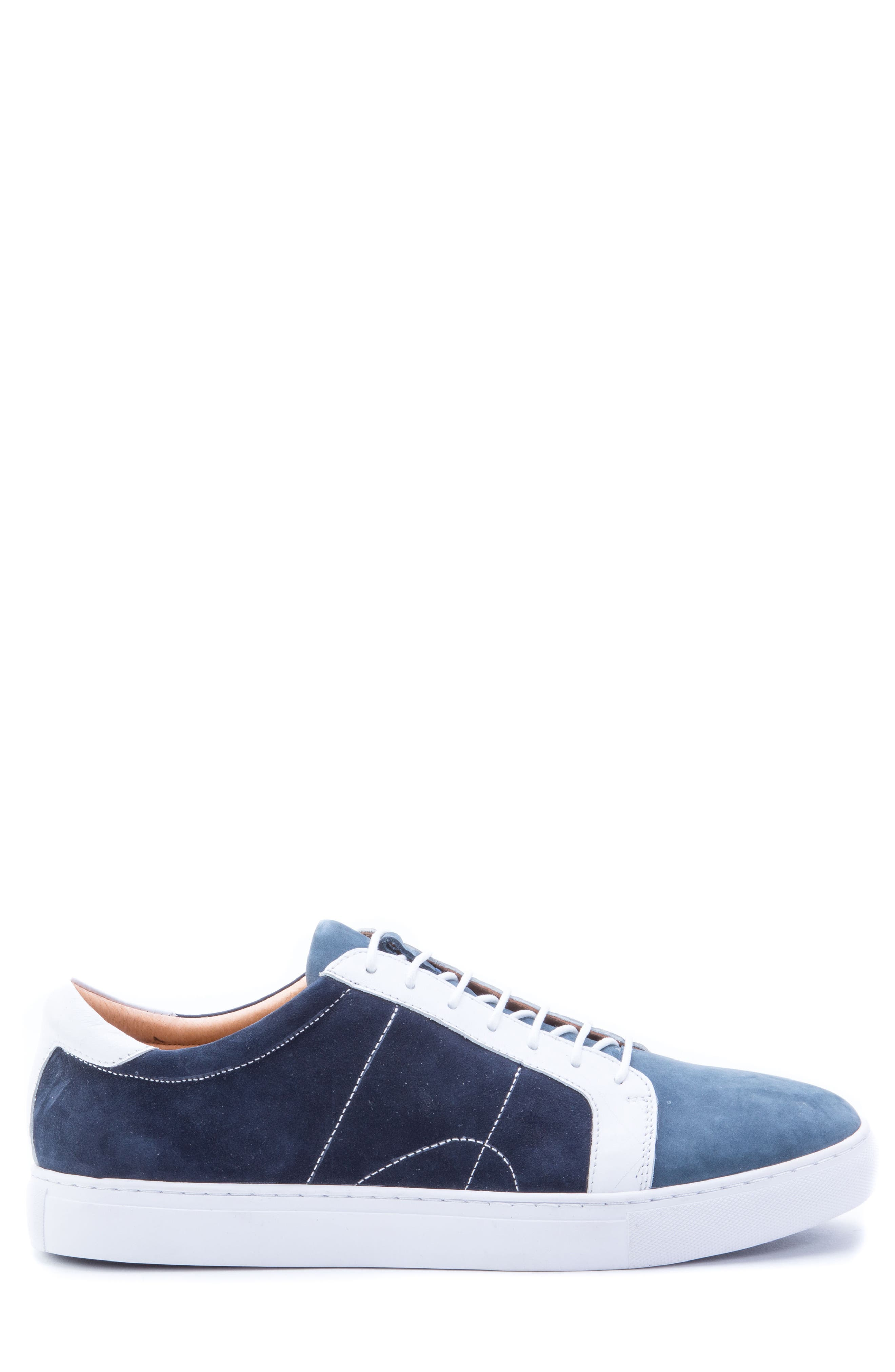 Gonzalo Low Top Sneaker,                             Alternate thumbnail 3, color,                             Navy Suede