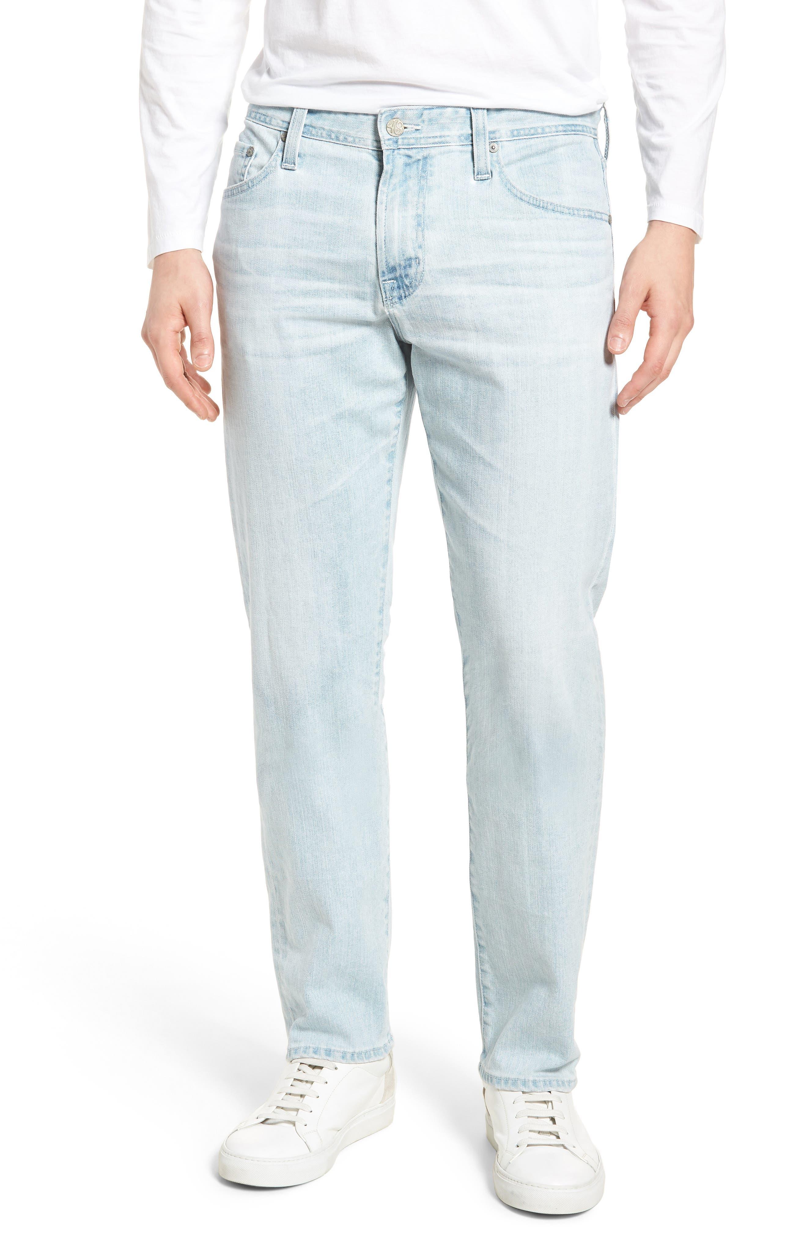 Graduate Slim Straight Leg Jeans,                             Main thumbnail 1, color,                             27 Years Bayside