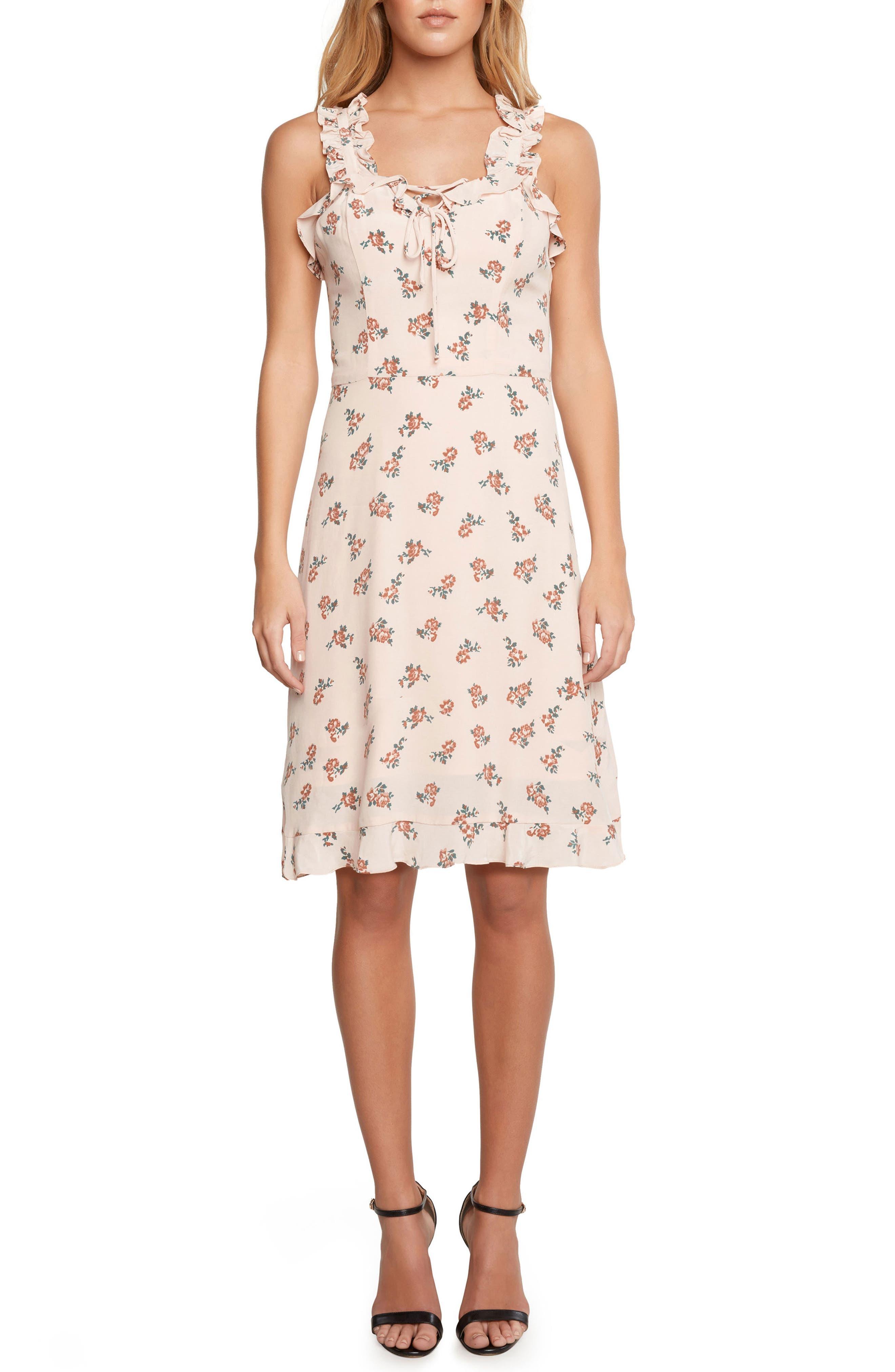 Ruffle Dress,                         Main,                         color, Peach