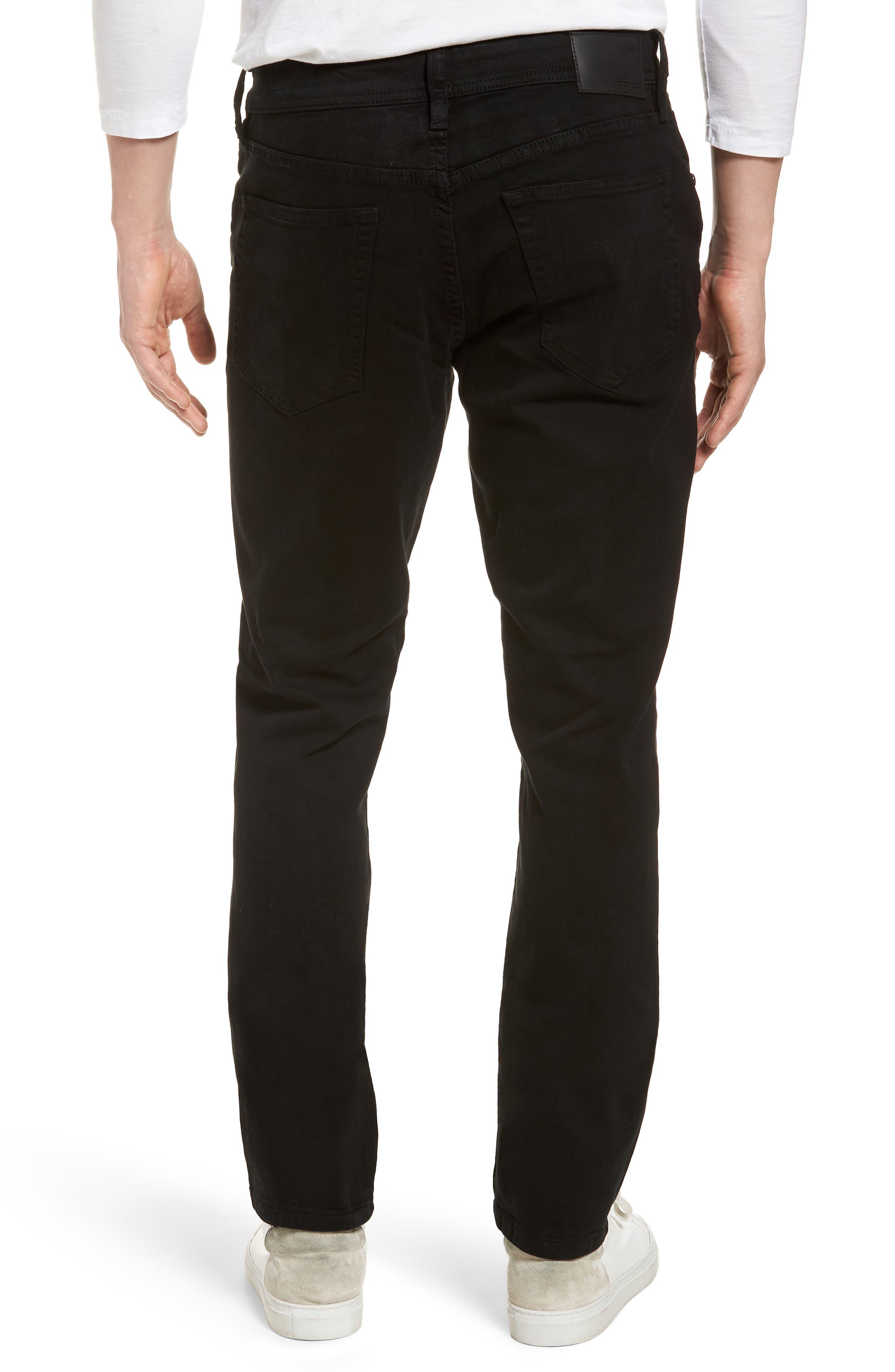 Jeans Co. Kingston Slim Straight Leg Jeans,                             Alternate thumbnail 2, color,                             Black Rinse