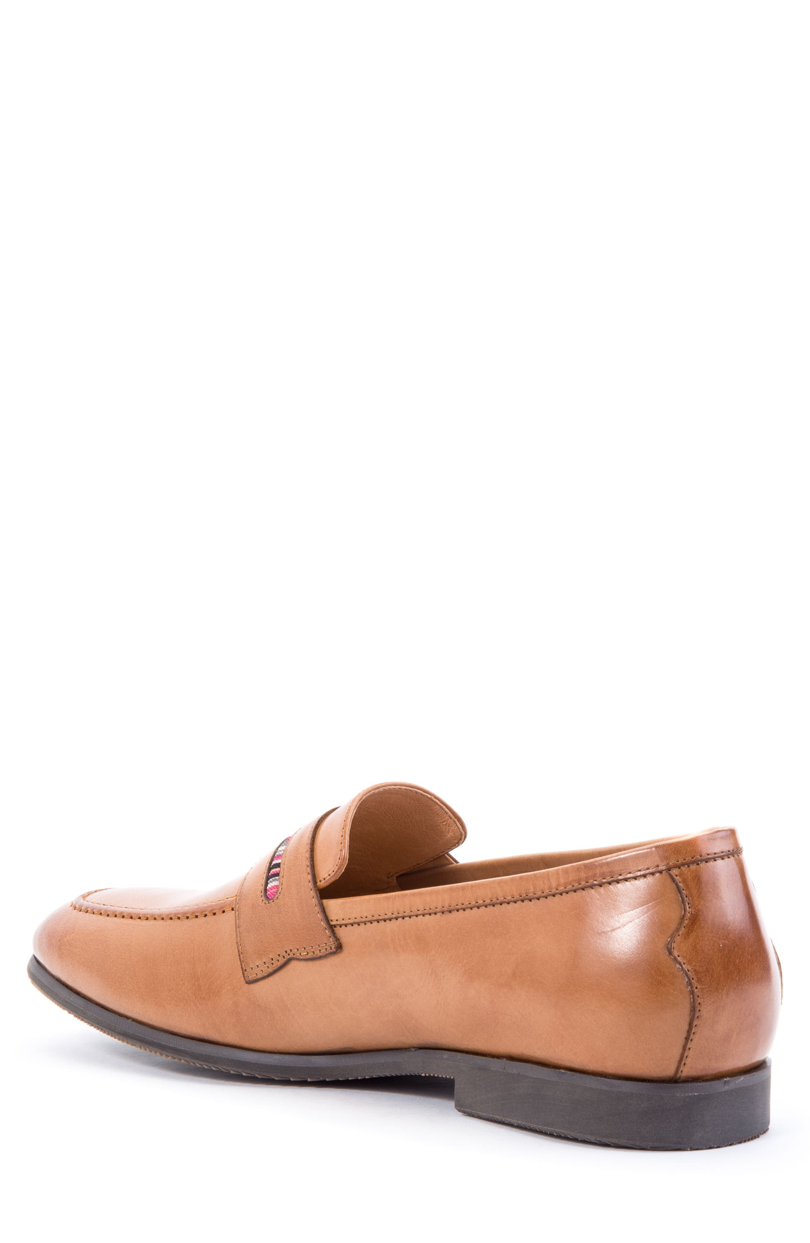 Hugo Penny Loafer,                             Alternate thumbnail 2, color,                             Cognac Leather
