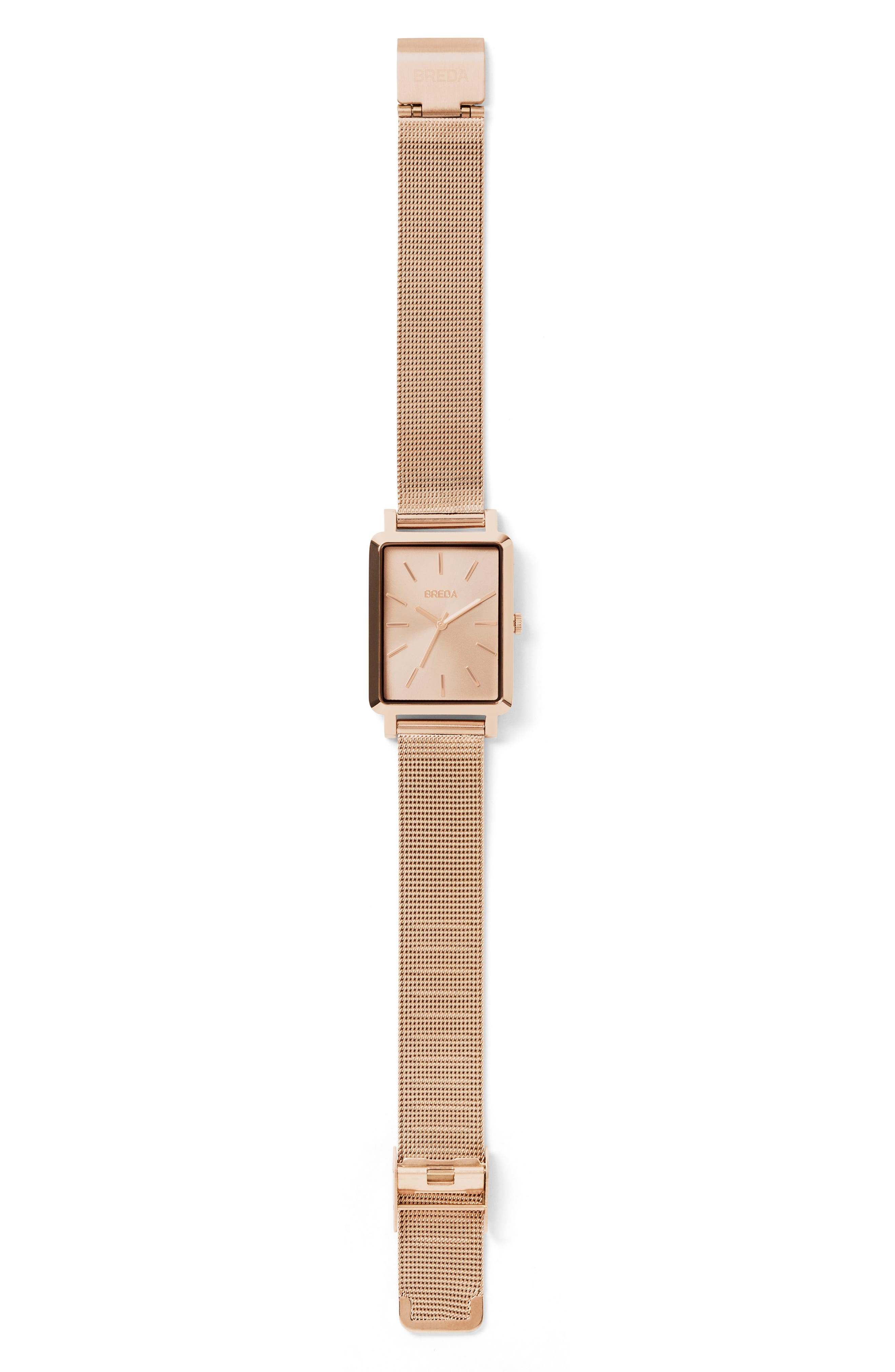 Baer Mesh Strap Watch, 26mm,                             Alternate thumbnail 3, color,                             Rose Gold