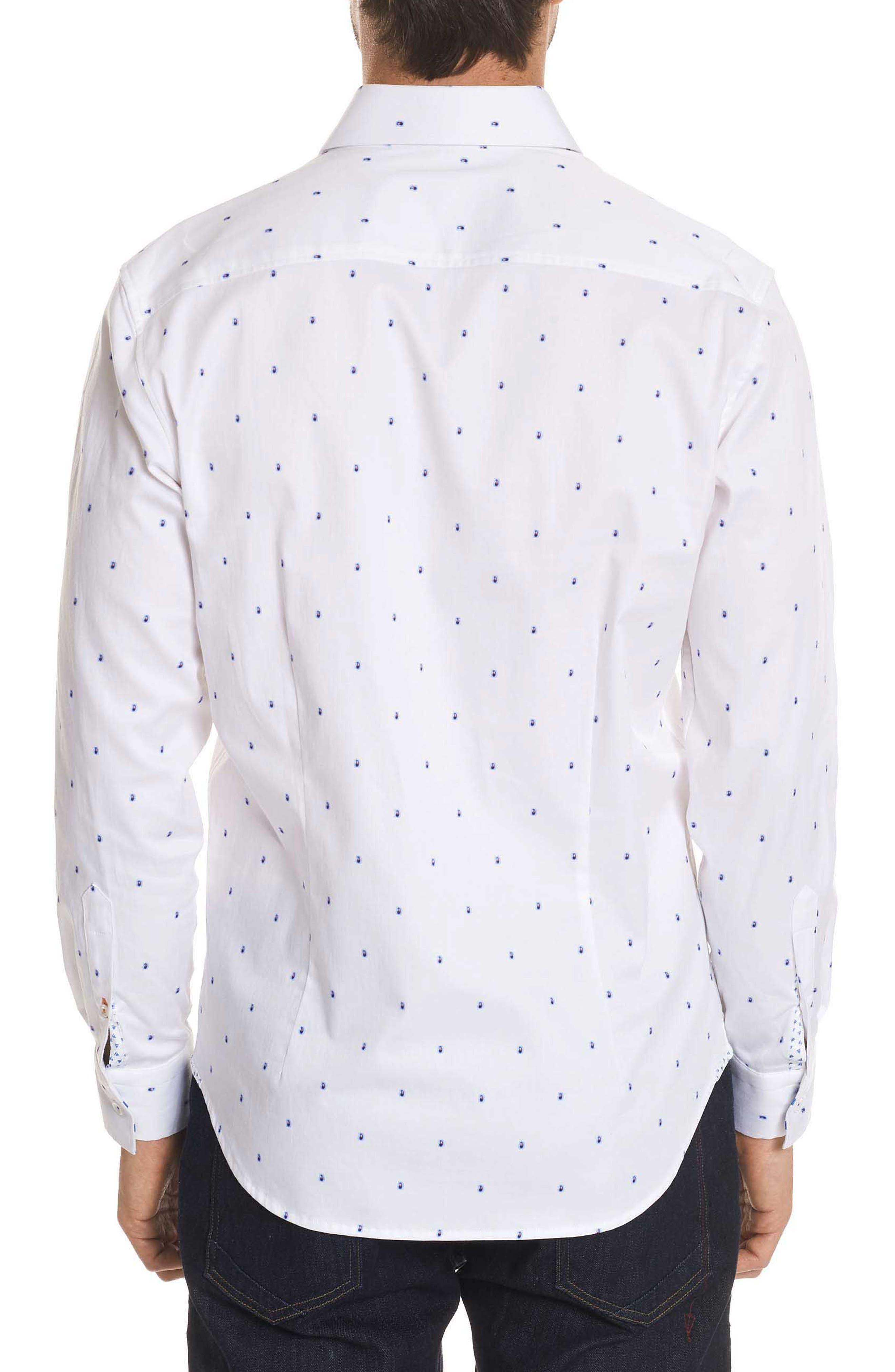 Mack Tailored Fit Sport Shirt,                             Alternate thumbnail 2, color,                             White