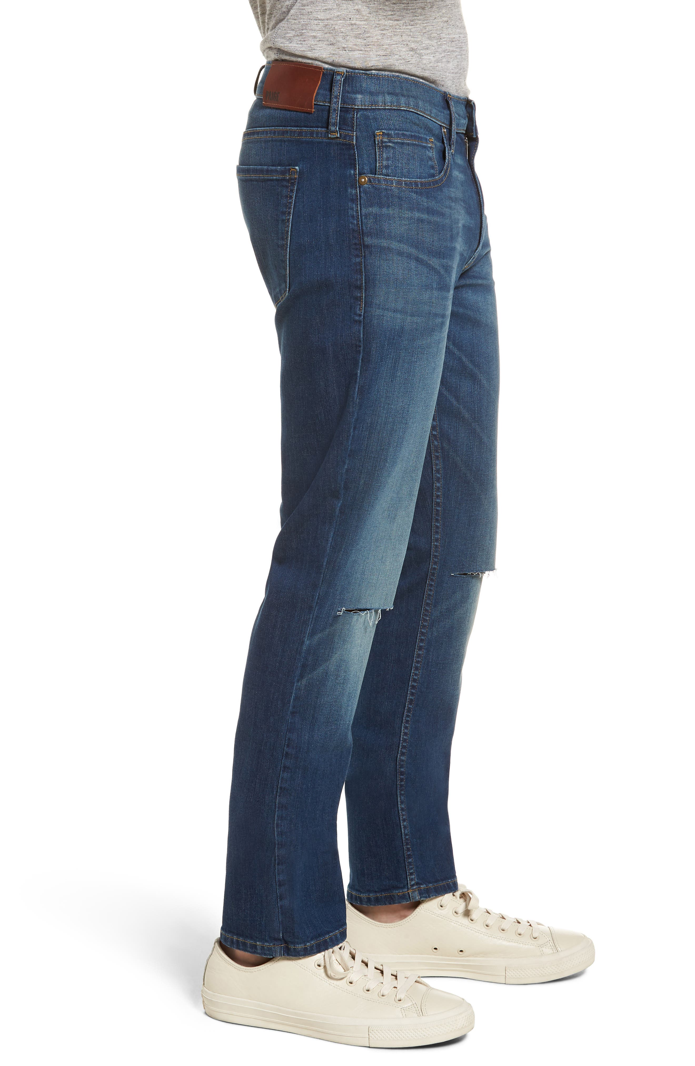 Lennox Slim Fit Jeans,                             Alternate thumbnail 3, color,                             Harlan Destructed