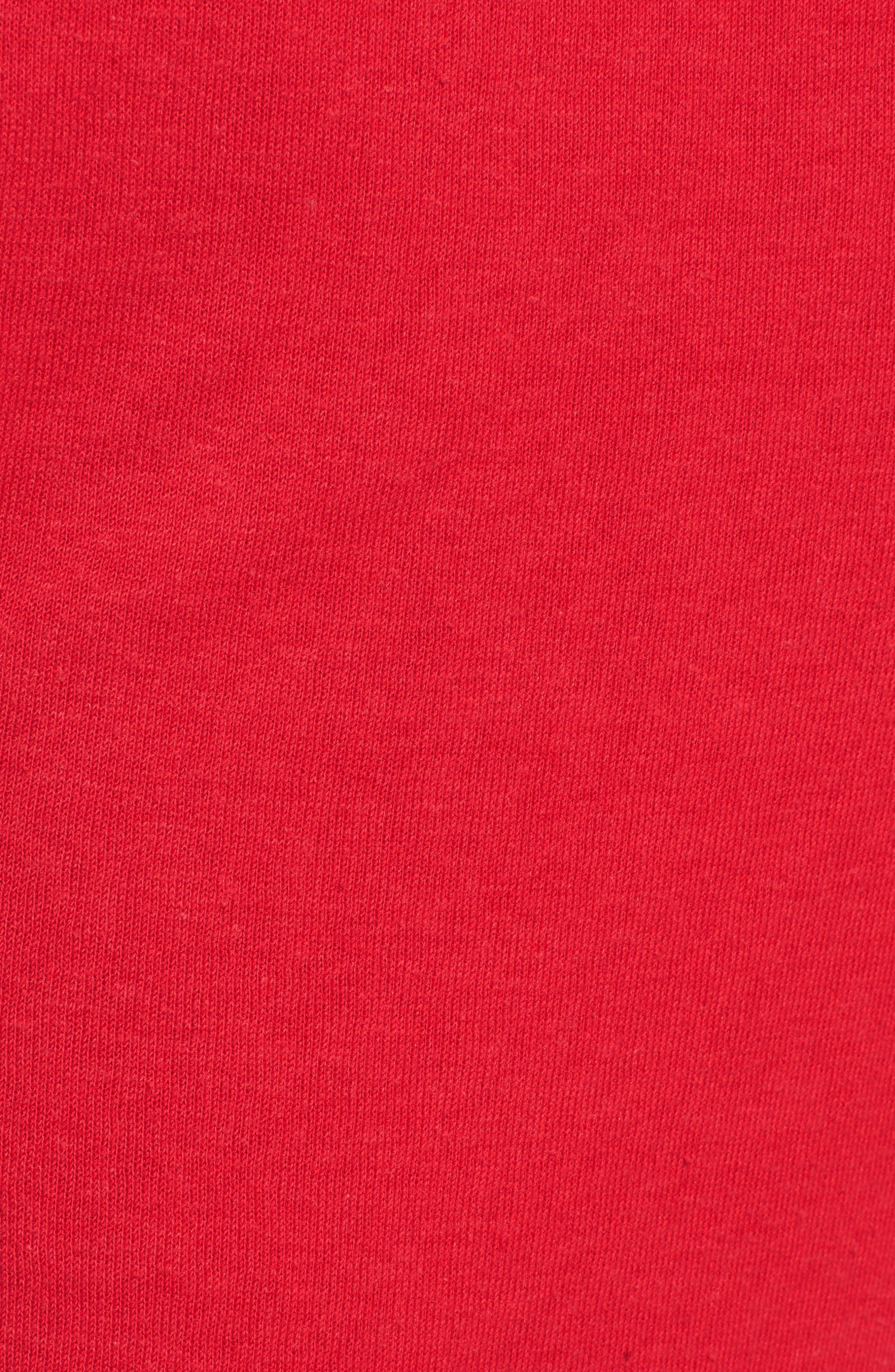 Cambridge Crop Sweatpants,                             Alternate thumbnail 6, color,                             Cherry