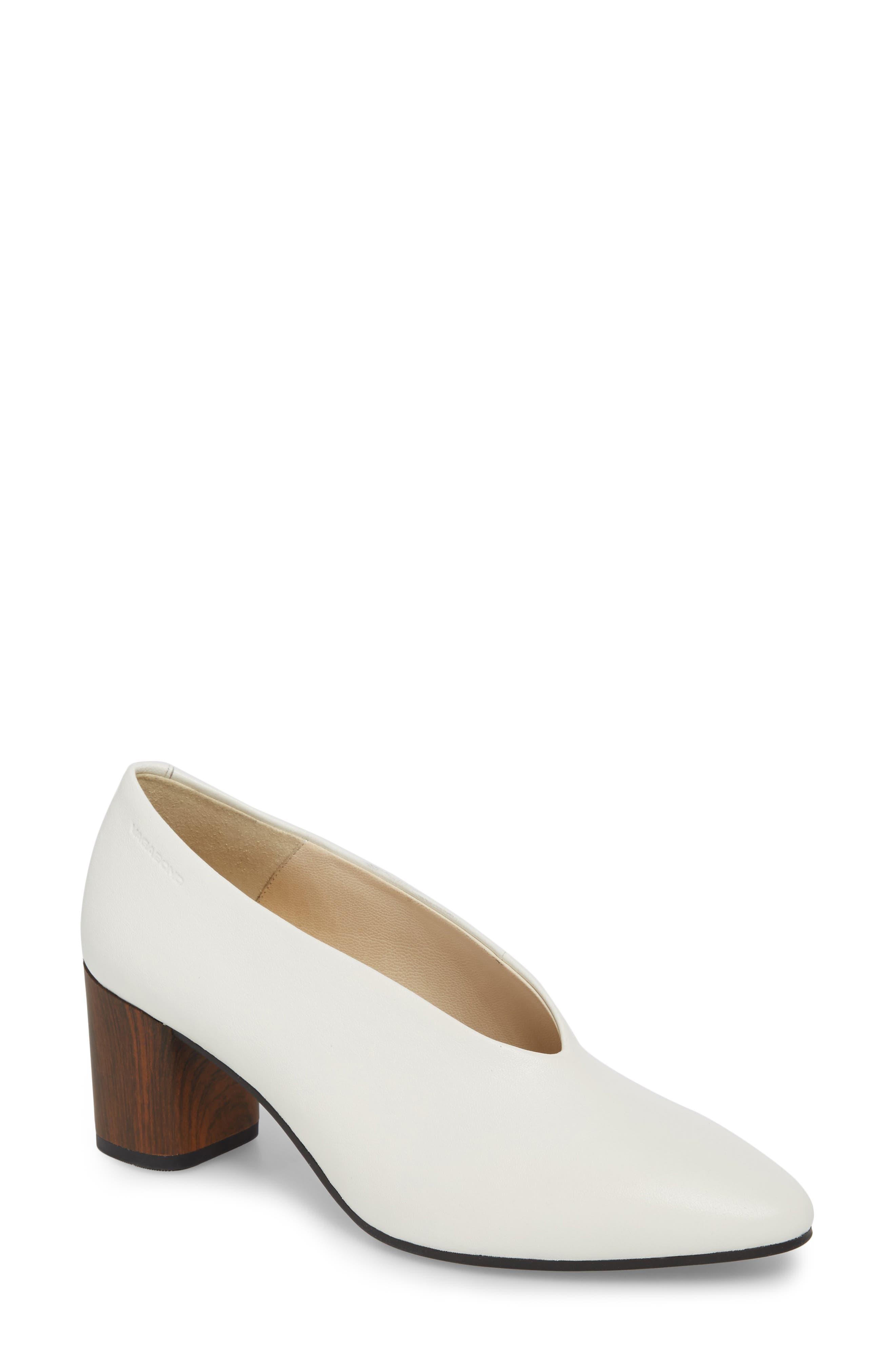 Eve Pump,                             Main thumbnail 1, color,                             Cream White Leather