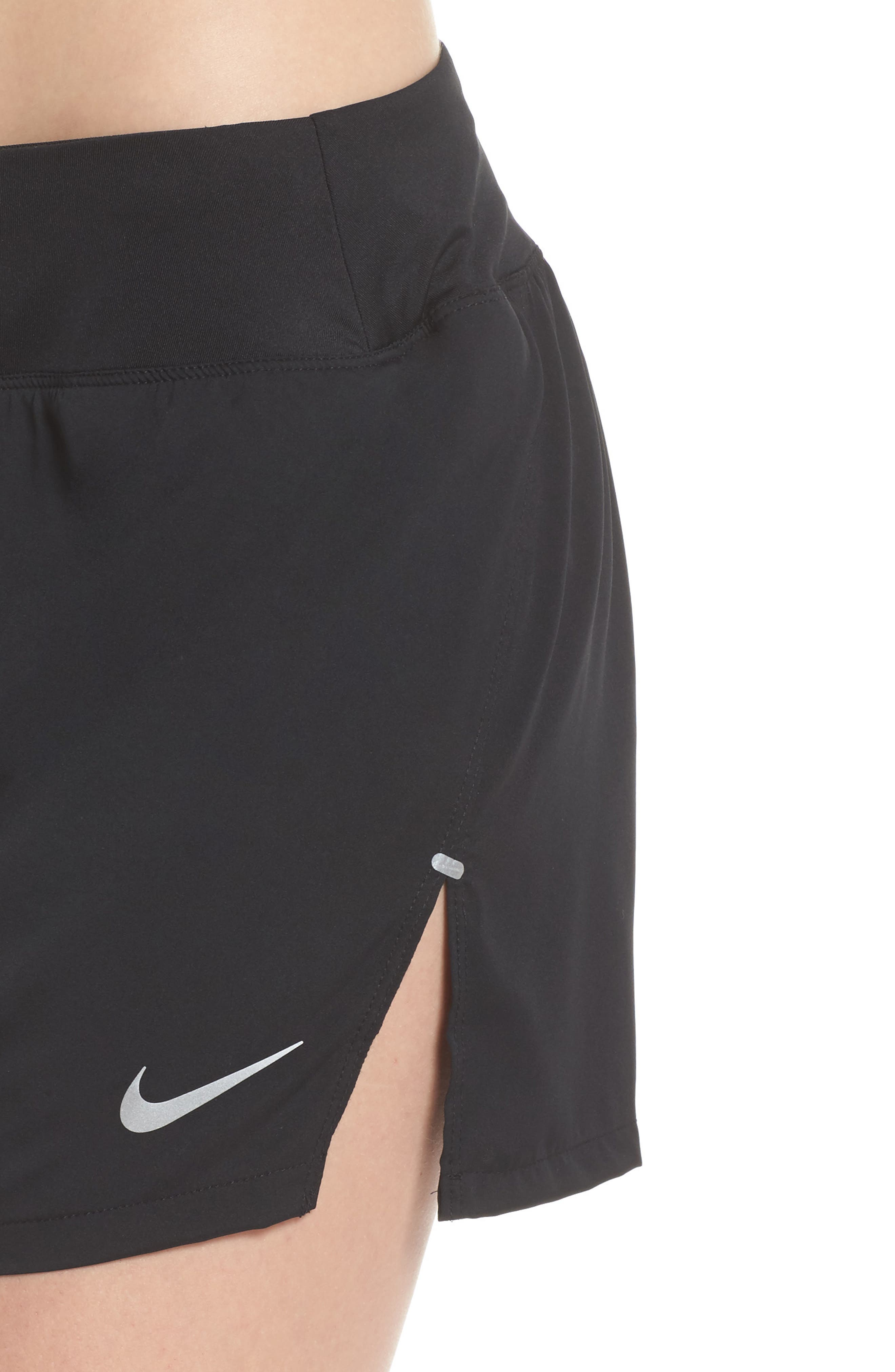 Flex Dri-FIT Running Shorts,                             Alternate thumbnail 4, color,                             Black