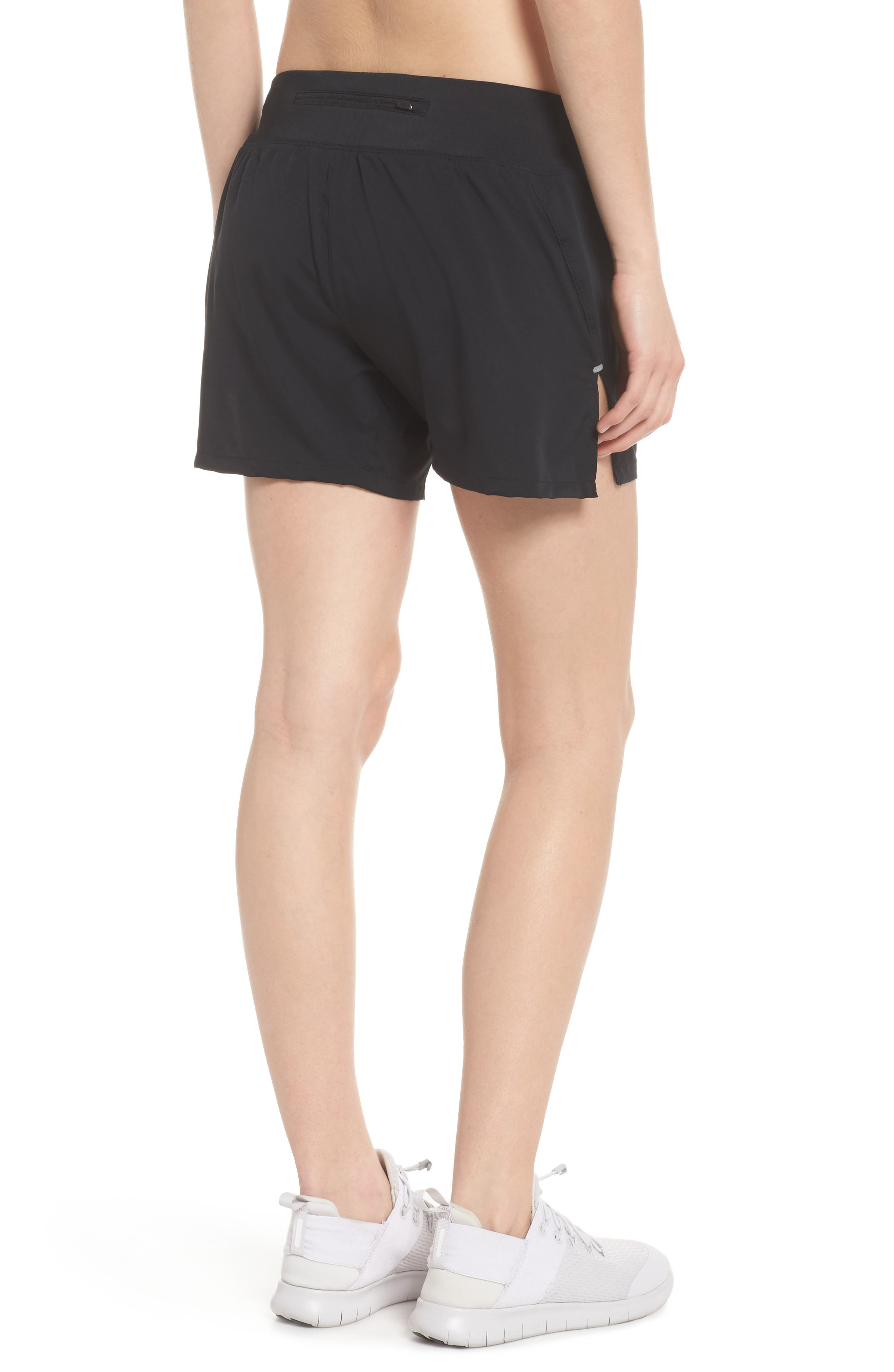 Flex Dri-FIT Running Shorts,                             Alternate thumbnail 2, color,                             Black