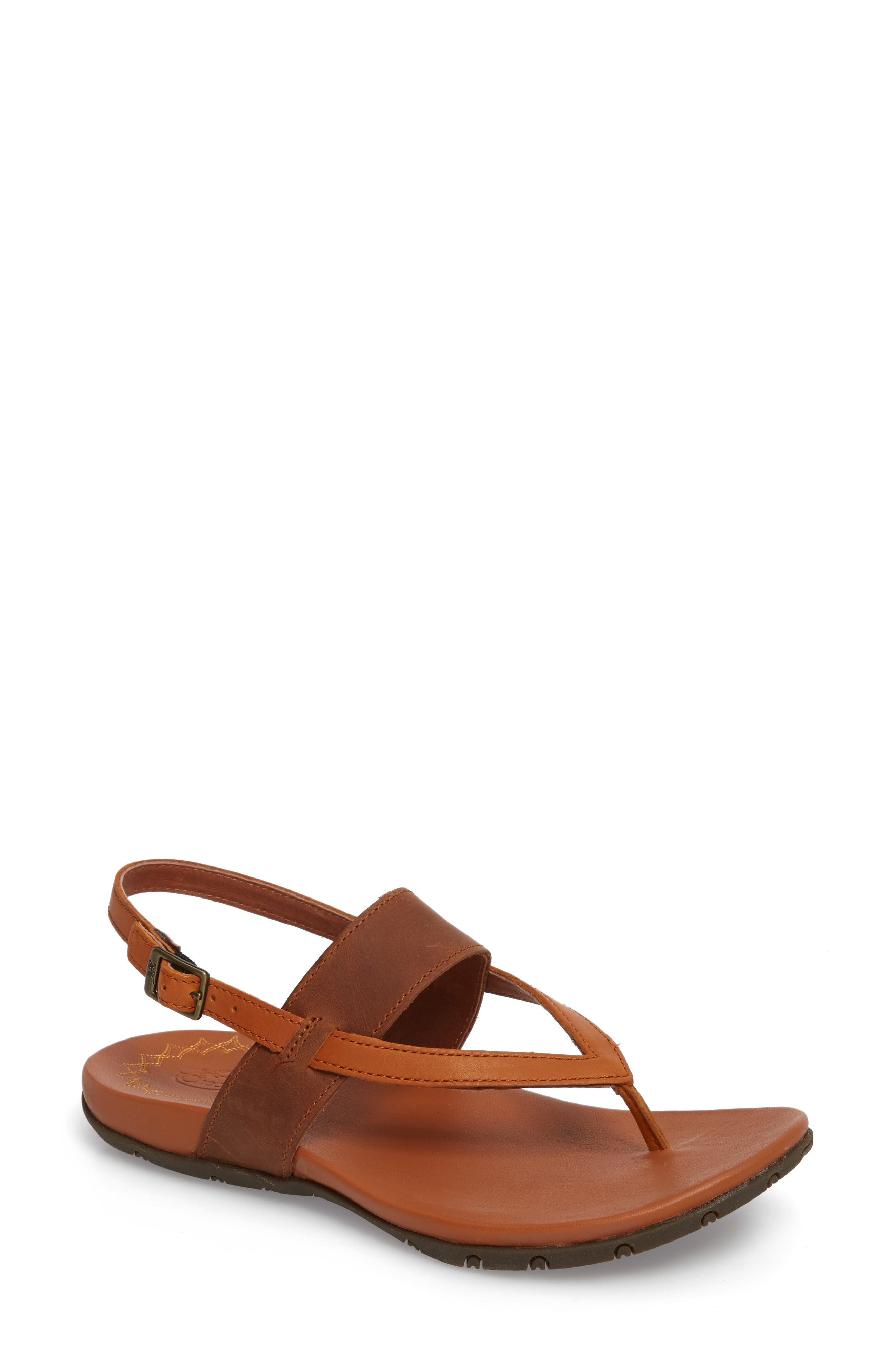 Maya II Sandal,                         Main,                         color, Rust Leather